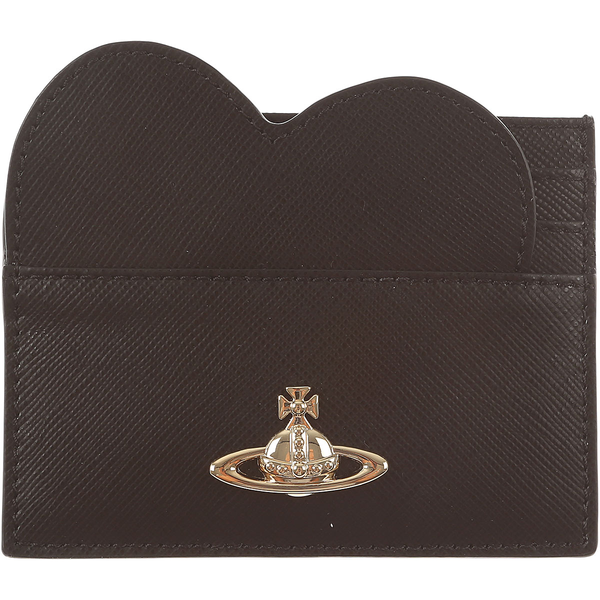 Vivienne Westwood Card Holder for Women On Sale, Black, Leather, 2019, One size one size