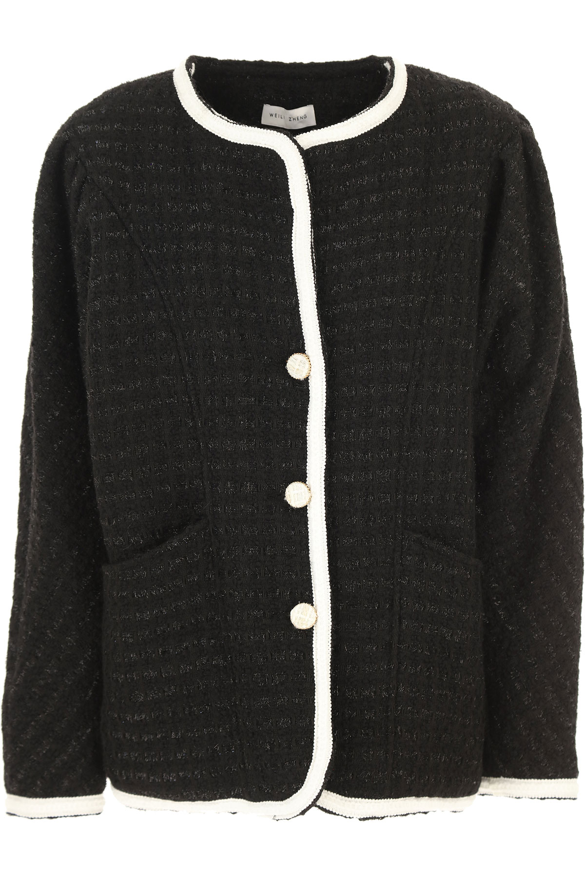 Weili Zheng Blazer for Women On Sale, Black, Wool, 2019, 2 4 6