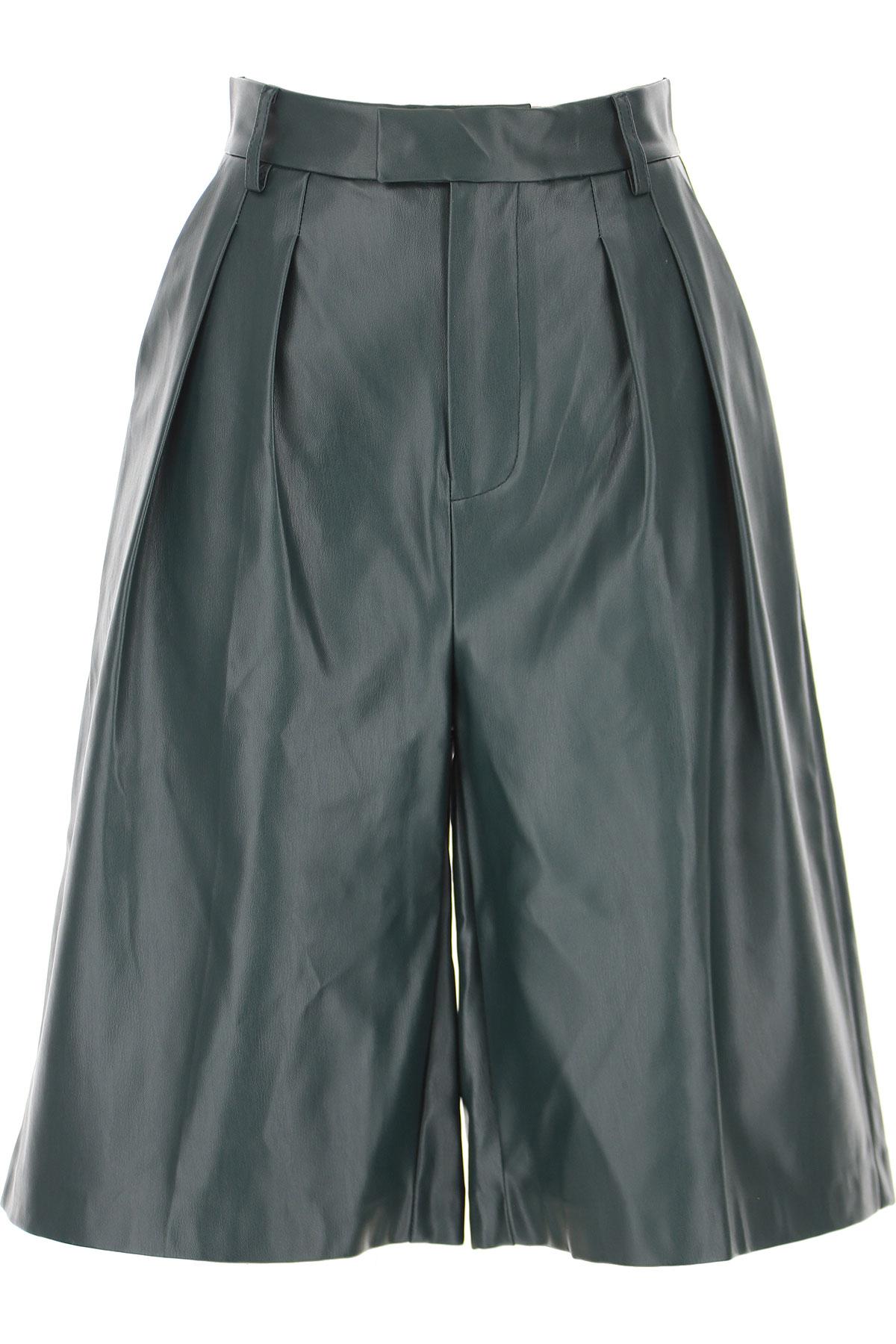 Weili Zheng Shorts for Women On Sale, Dark Green, polyurethane, 2019, 28