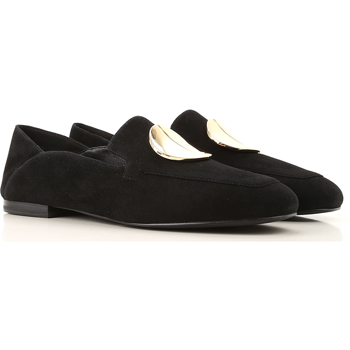 What For Loafers for Women On Sale, Black, Suede leather, 2019, 10 6 7 8 9