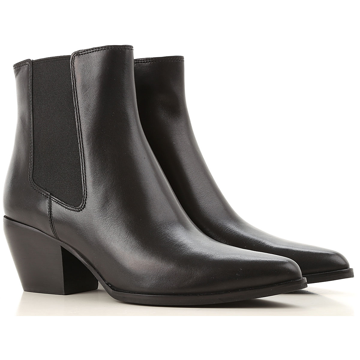 What For Chelsea Boots for Women On Sale, Black, Leather, 2019, 10 6 7 8