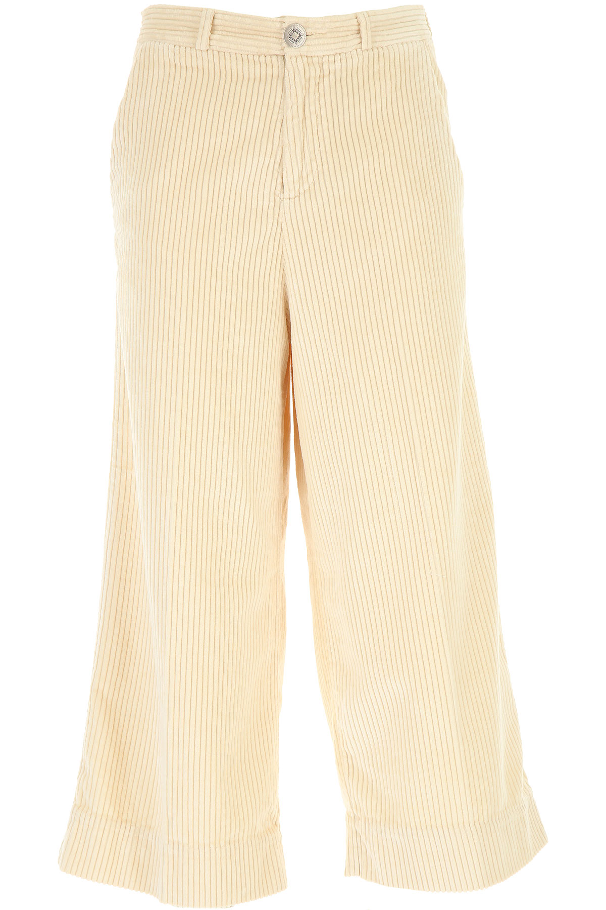 White Sand Pants for Women On Sale, Ivory, Cotton, 2019, 26 28