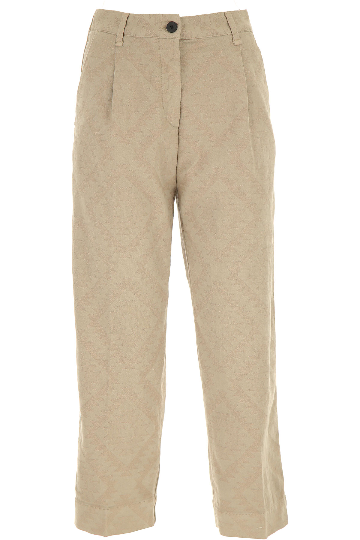 White Sand Pants for Women, Beige, Cotton, 2019, 24 28