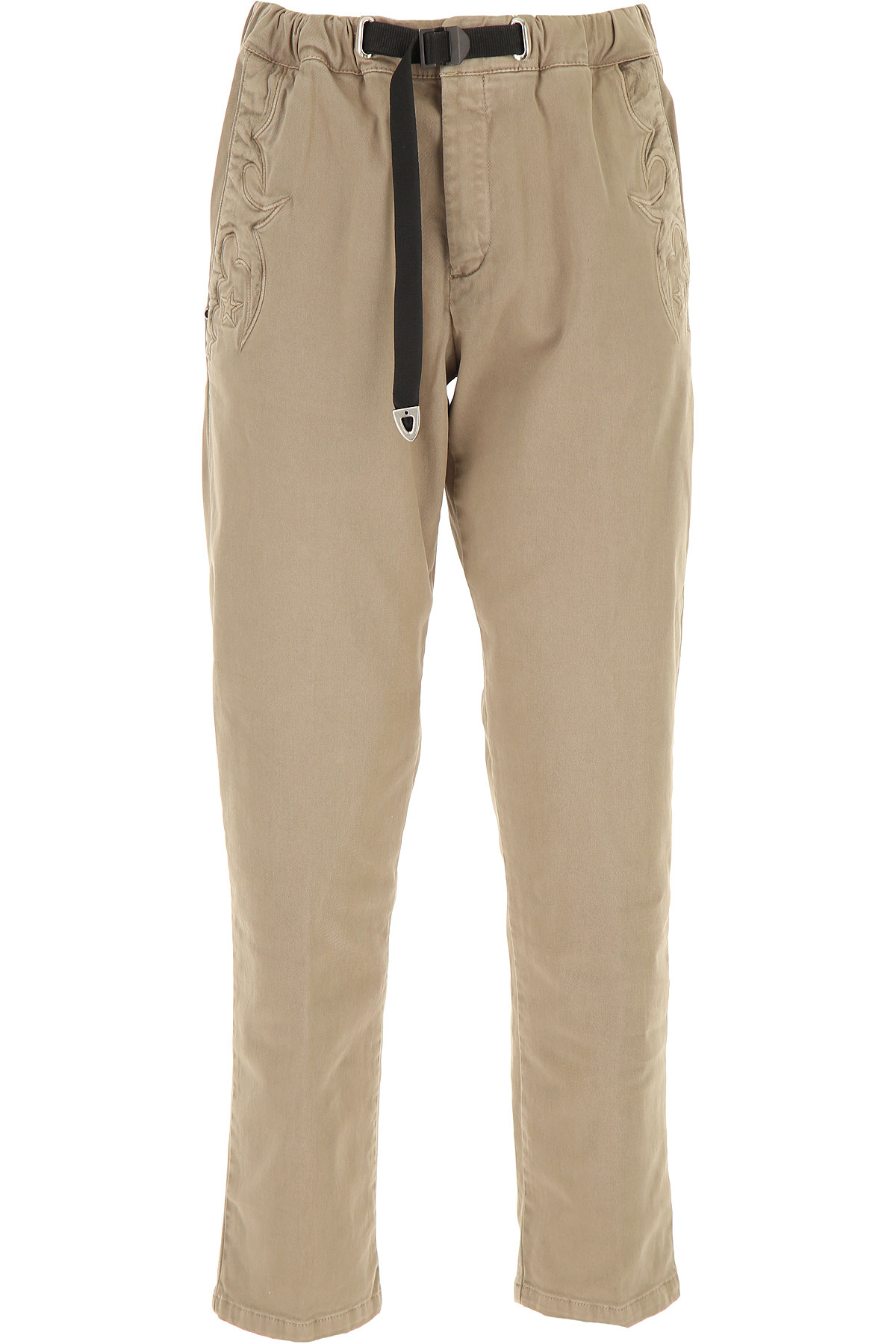 White Sand Pants for Women, Beige, Cotton, 2019, 28 30