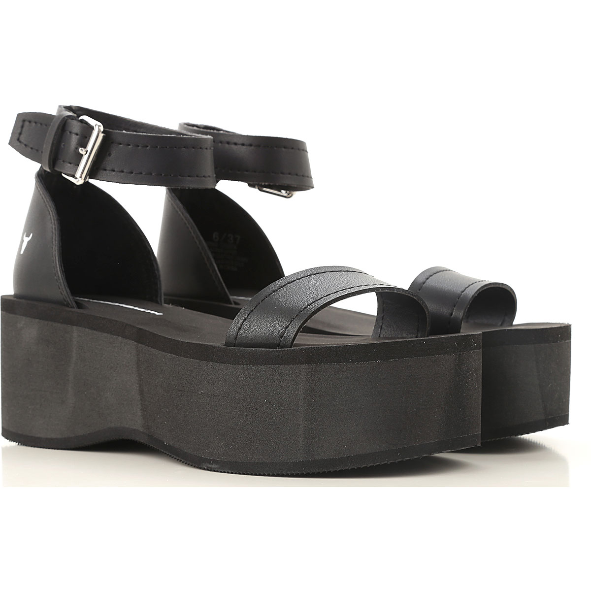 Windsor Smith Sandals for Women On Sale in Outlet, Black, Leather, 2019, USA 6 - EUR 37