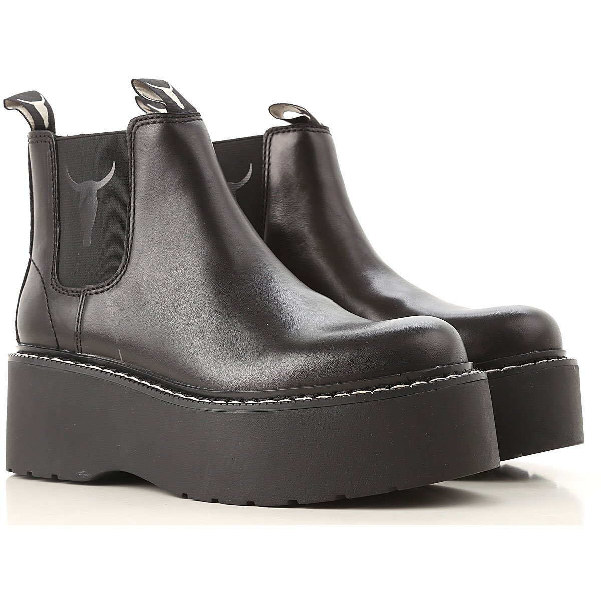 Image of Windsor Smith Boots for Women, Booties, Black, Leather, 2017, US 5 (EU 36) US 7 (EU 38) US 8 (EU 39) US 9 (EU 40) US 10.5 (EU 41)
