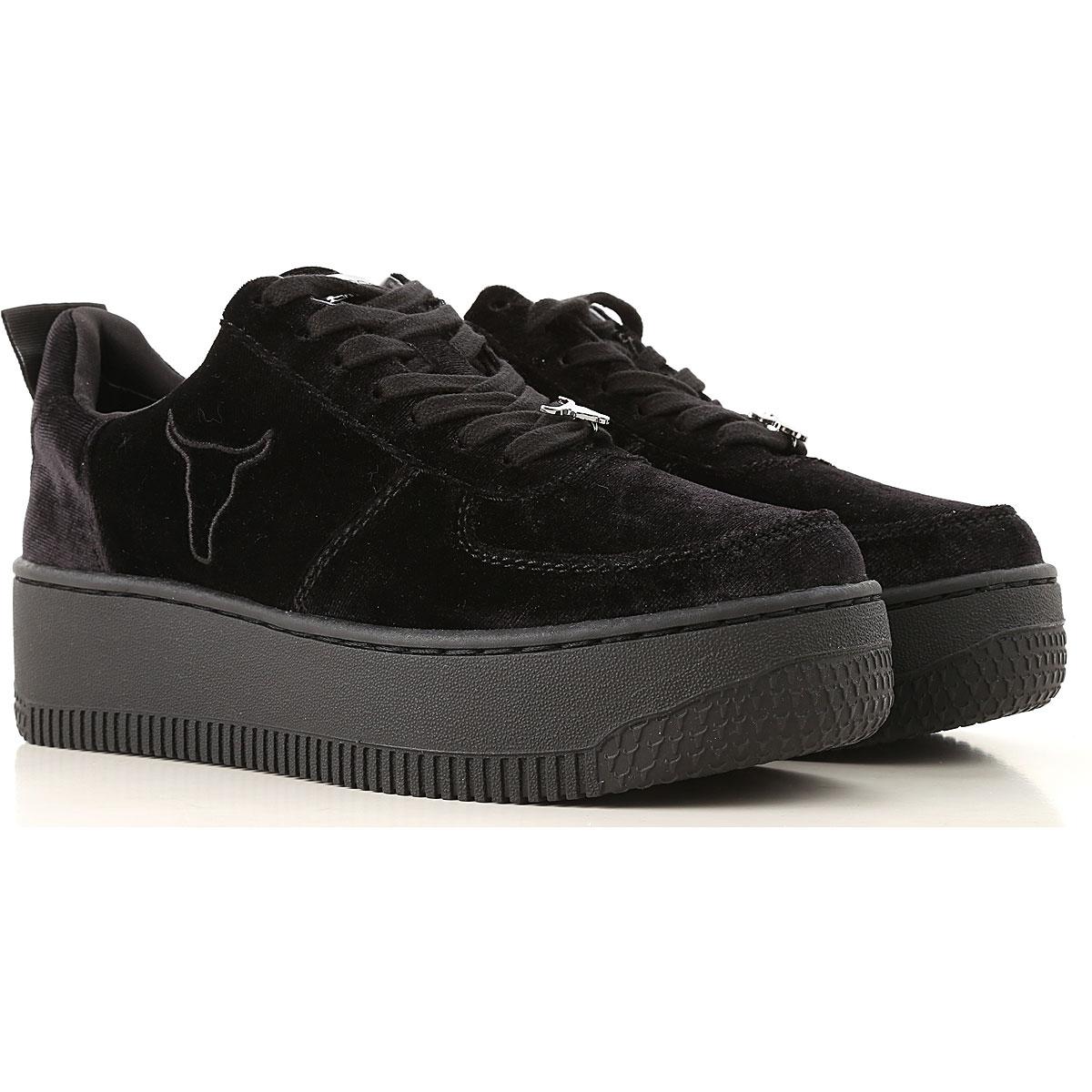 Image of Windsor Smith Sneakers for Women, Black, Velvet, 2017, US 5 (EU 36) US 7 (EU 38) US 8 (EU 39) US 9 (EU 40)