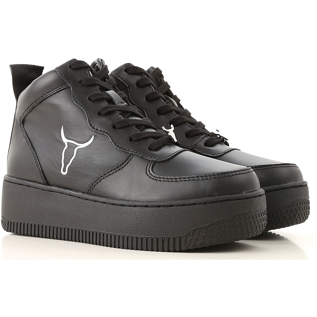 Image of Windsor Smith Sneakers for Women, Black, Leather, 2017, US 5 (EU 36) US 6 (EU 36.5) US 7 (EU 38) US 8 (EU 39) US 9 (EU 40)