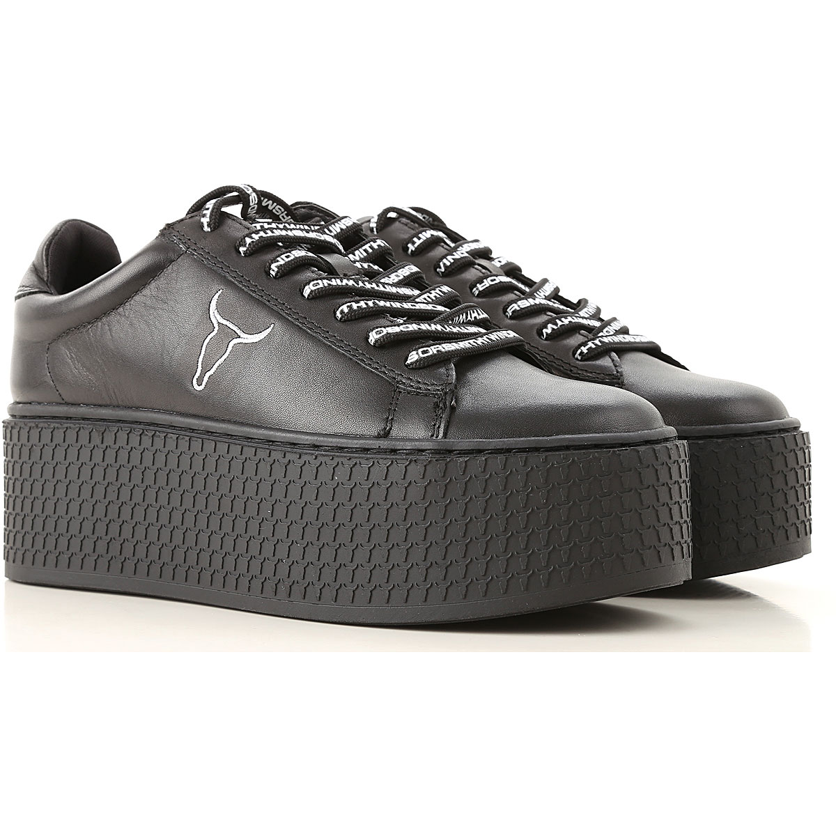 Image of Windsor Smith Sneakers for Women, Black, Leather, 2017, US 5 (EU 36) US 7 (EU 38) US 8 (EU 39) US 9 (EU 40)