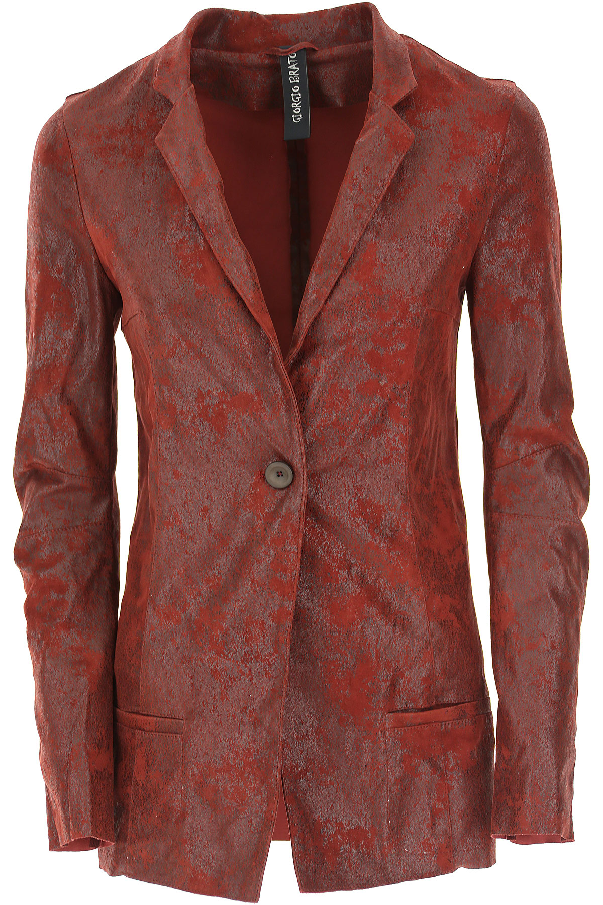Image of WLG by Giorgio Brato Leather Jacket for Women, Wine, Leather, 2017, 10 4 6 8
