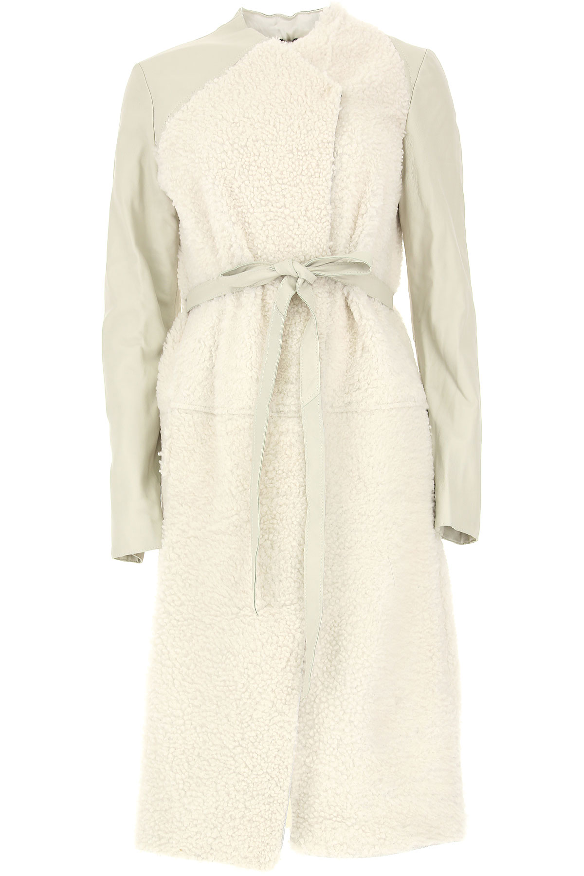 Image of WLG by Giorgio Brato Women\'s Coat, White, Virgin wool, 2017, 10 4 6 8