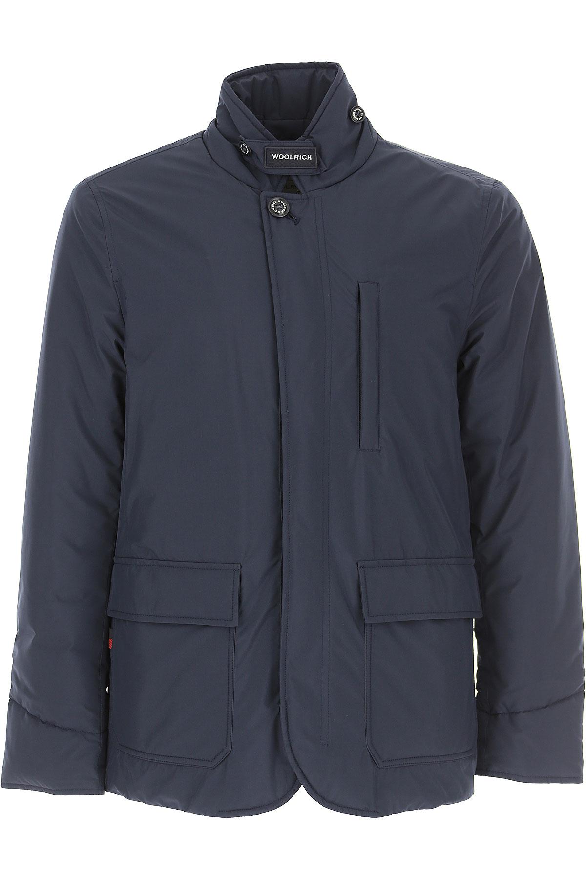 Woolrich Veste Homme Pas cher en Soldes, Bleu marine, Polyester, 2017, L M S XL
