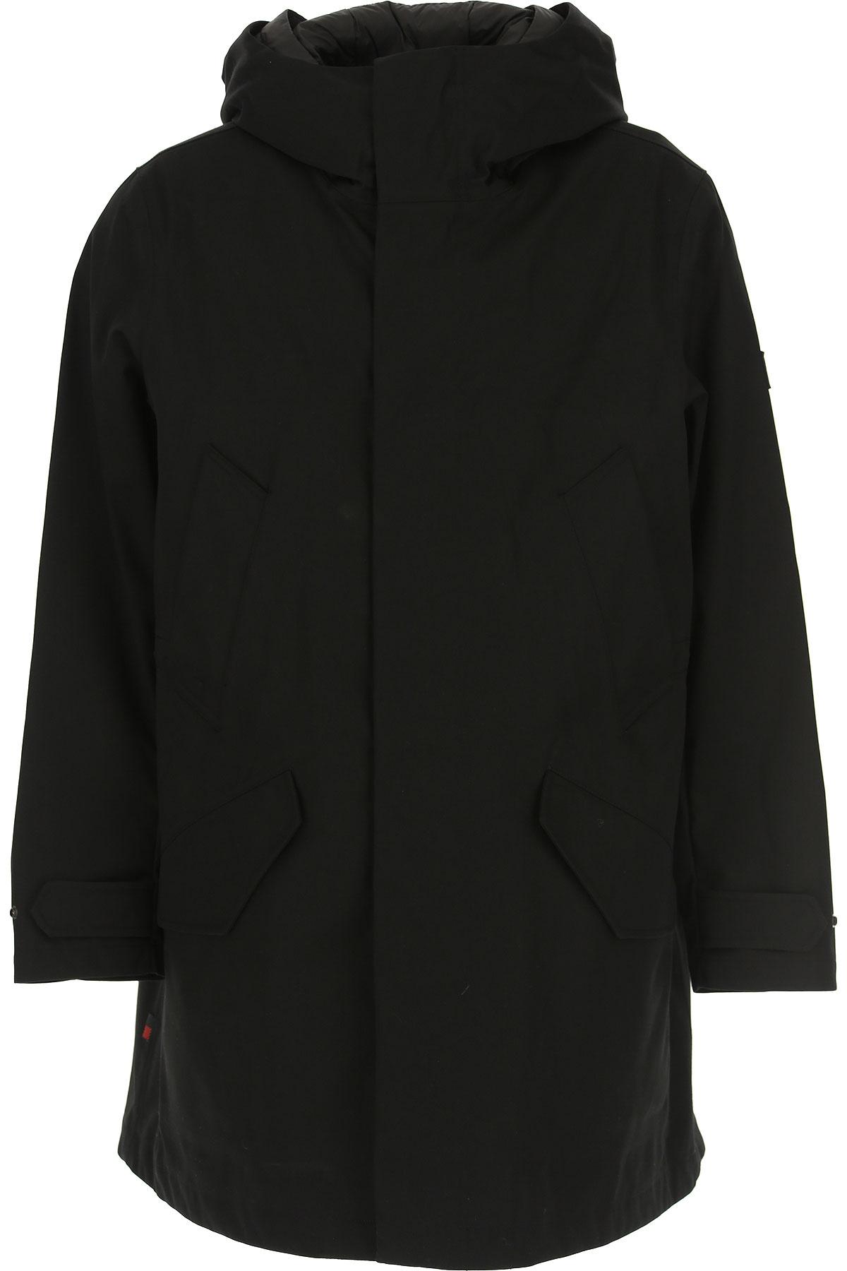 Woolrich Down Jacket for Men, Puffer Ski Jacket, Black, polyester, 2019, L M