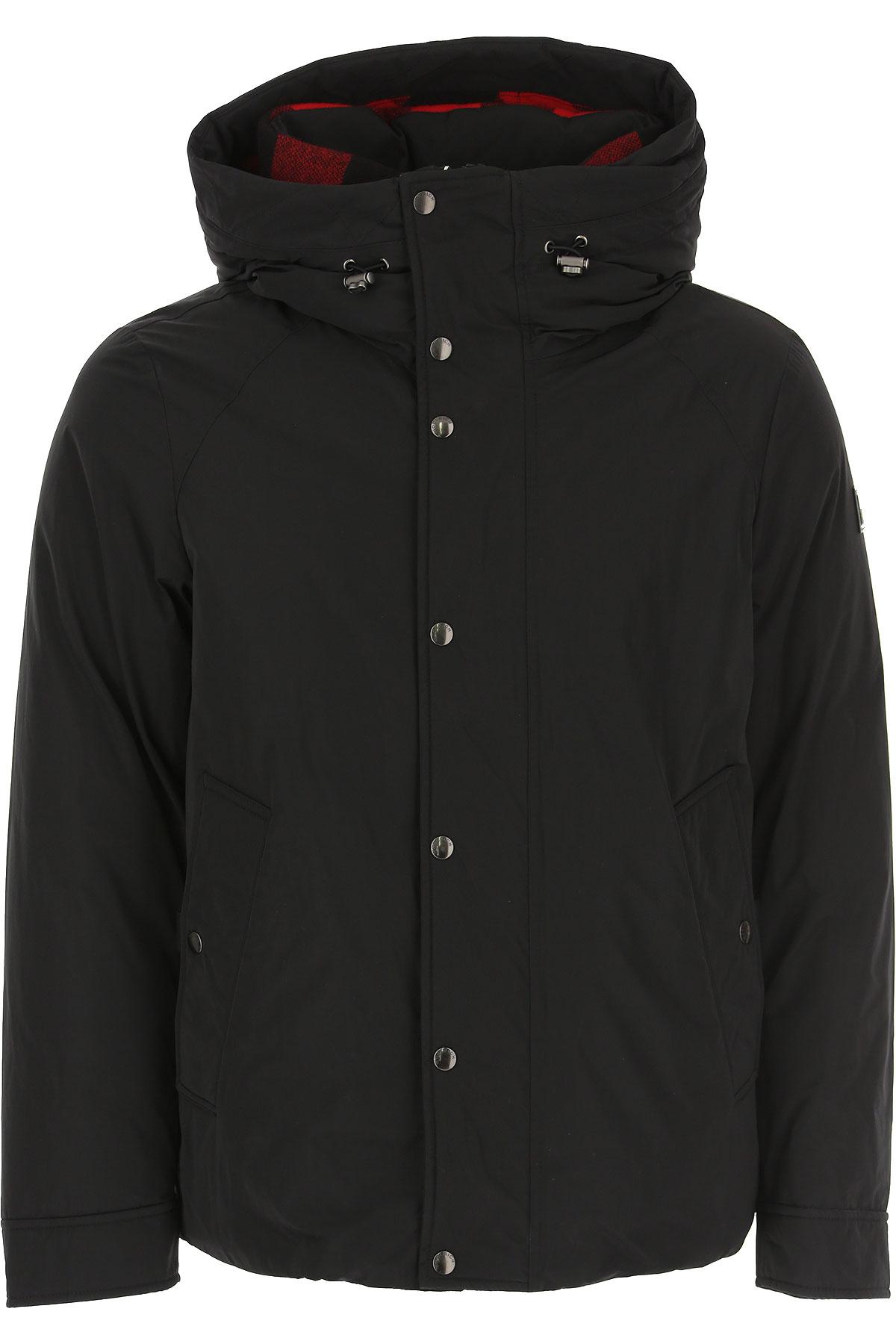 Woolrich Down Jacket for Men, Puffer Ski Jacket On Sale, Black, polyamide, 2019, L S