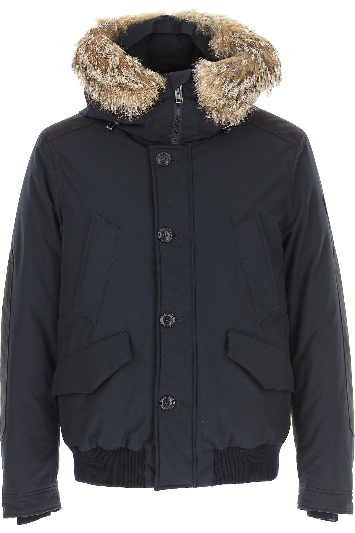 Woolrich Down Jacket for Men, Puffer Ski Jacket On Sale, Midnight Blue, Down, 2019, L M S