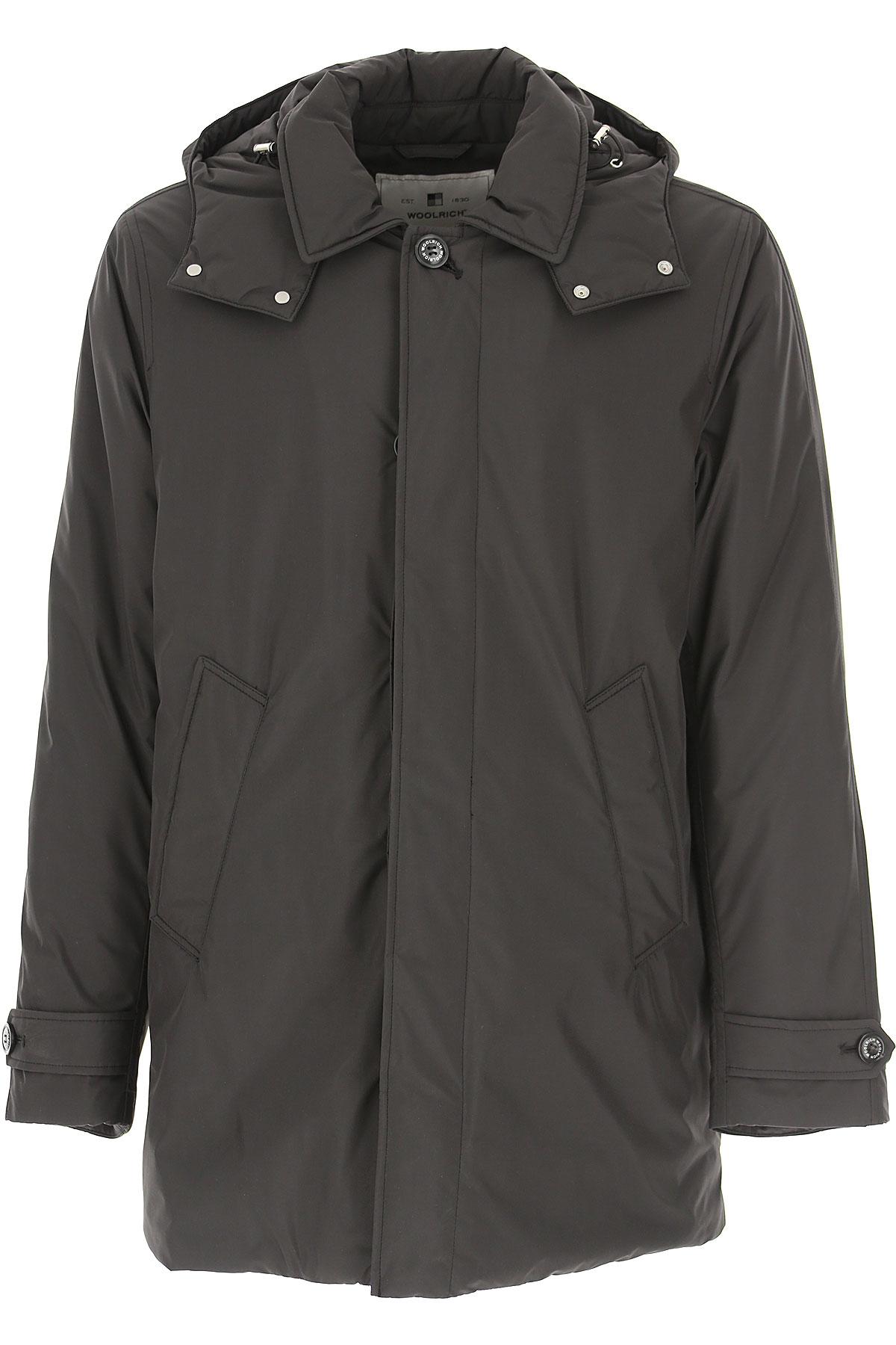 Woolrich Down Jacket for Men, Puffer Ski Jacket On Sale, Navy Blue, Down, 2019, L M XL