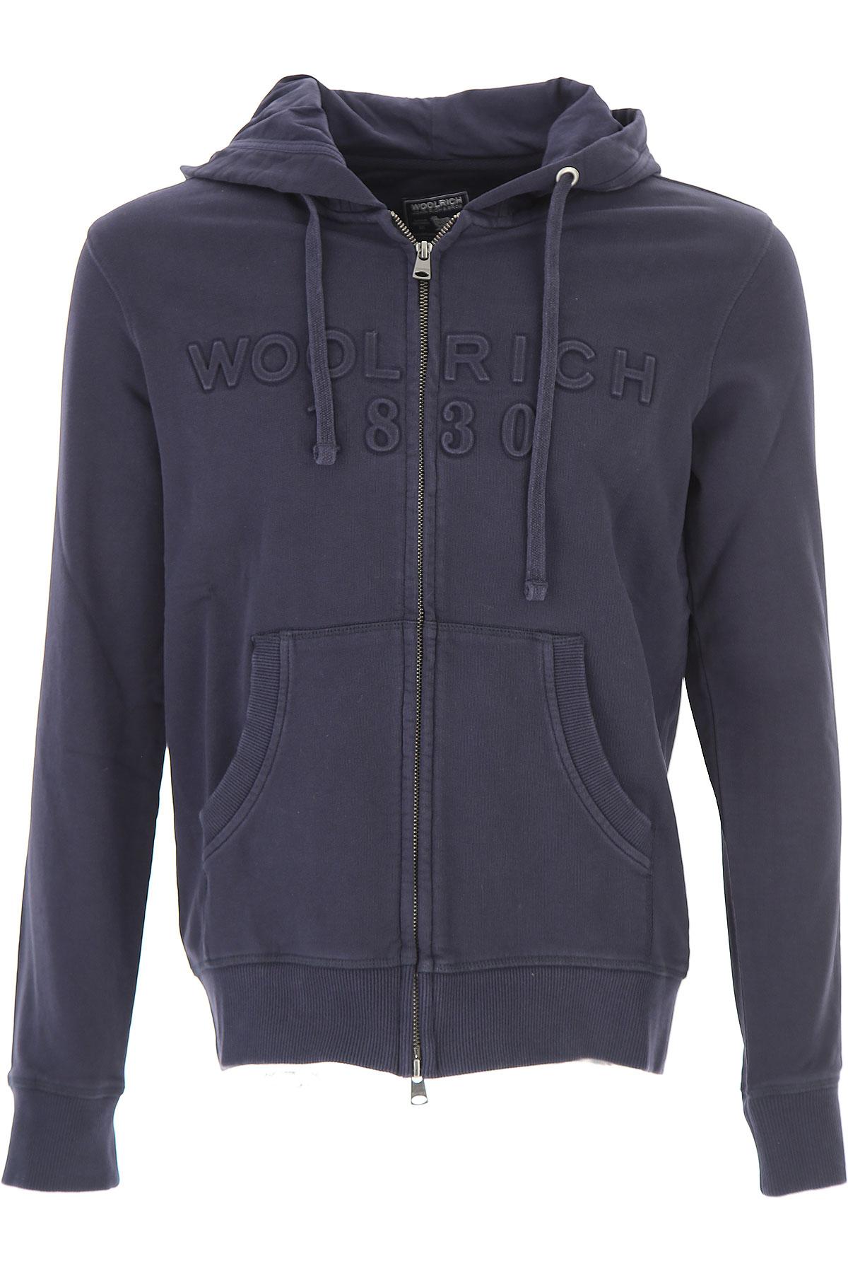 Woolrich Sweatshirt for Men On Sale, Dark Blue, Cotton, 2017, EU M/48 - US S EU L/50 - US M EU XL/52 - US L USA-449461