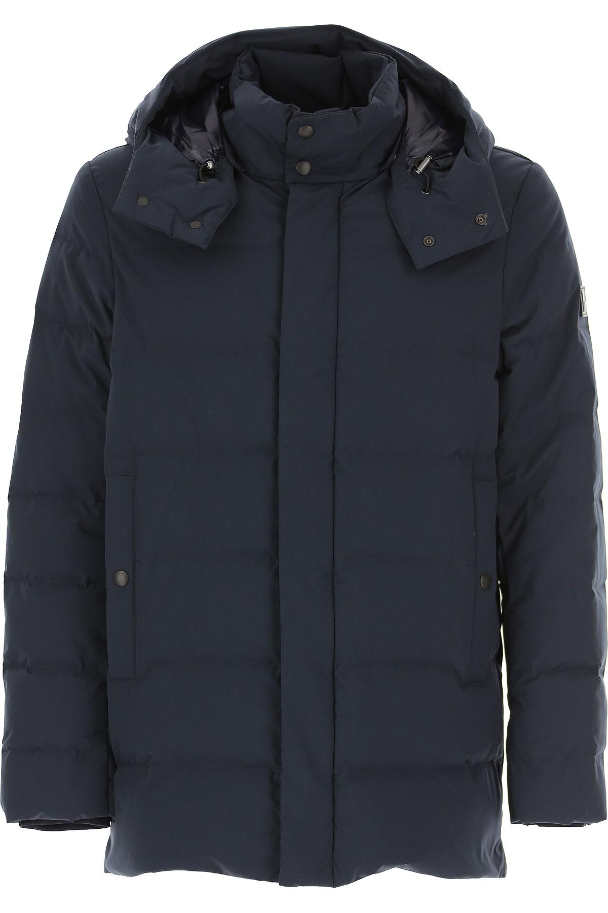 Woolrich Down Jacket for Men, Puffer Ski Jacket, Melton Blue, polyester, 2019, L M S XL XXL