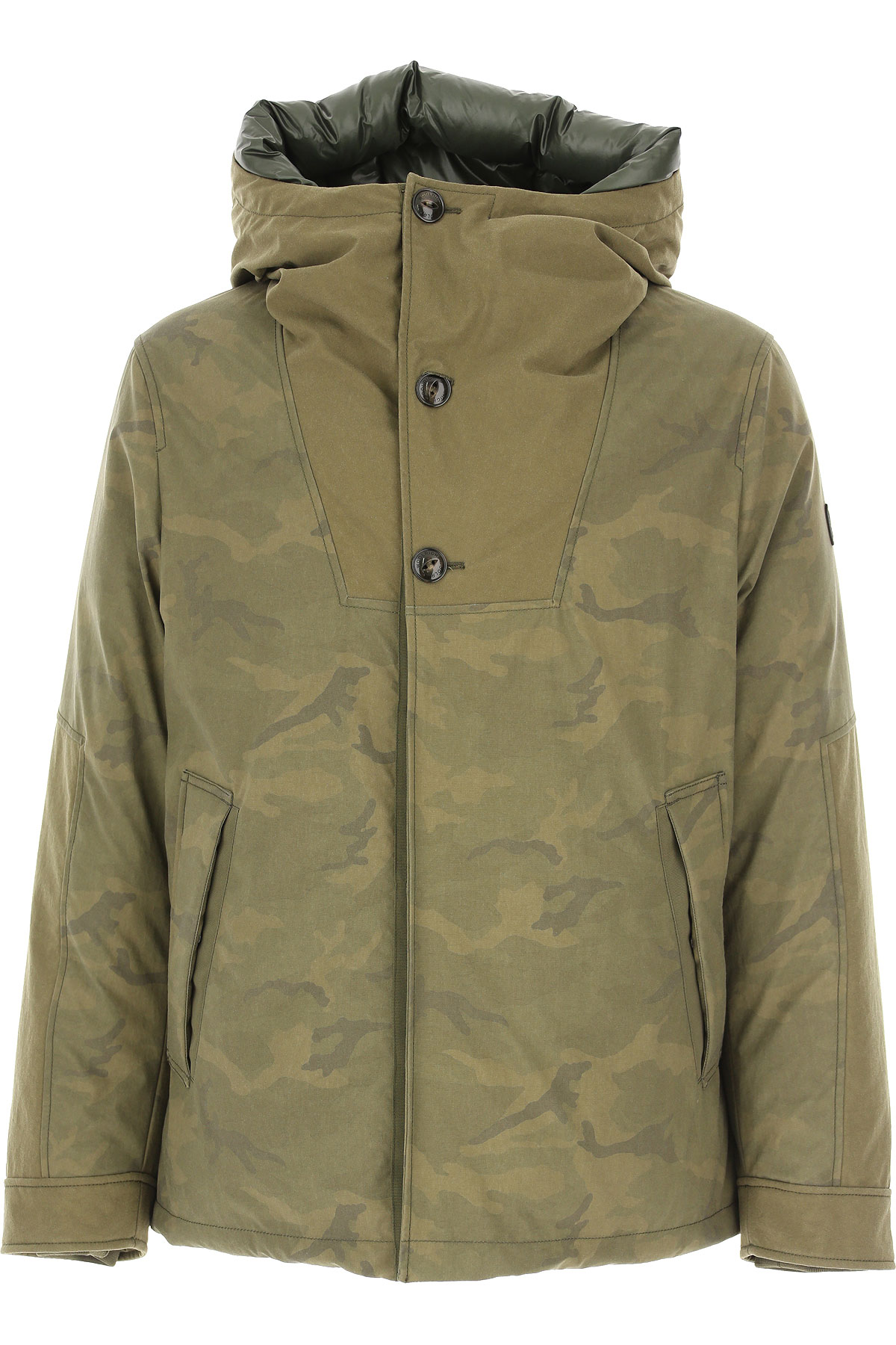 Woolrich Down Jacket for Men, Puffer Ski Jacket On Sale, Military Green, polyamide, 2019, L M S XL XS