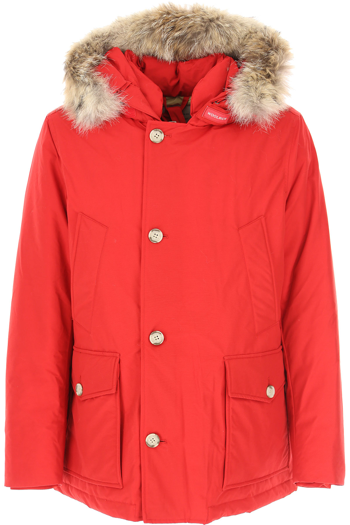 Woolrich Down Jacket for Men, Puffer Ski Jacket On Sale, Red, Duck Down, 2019, L S