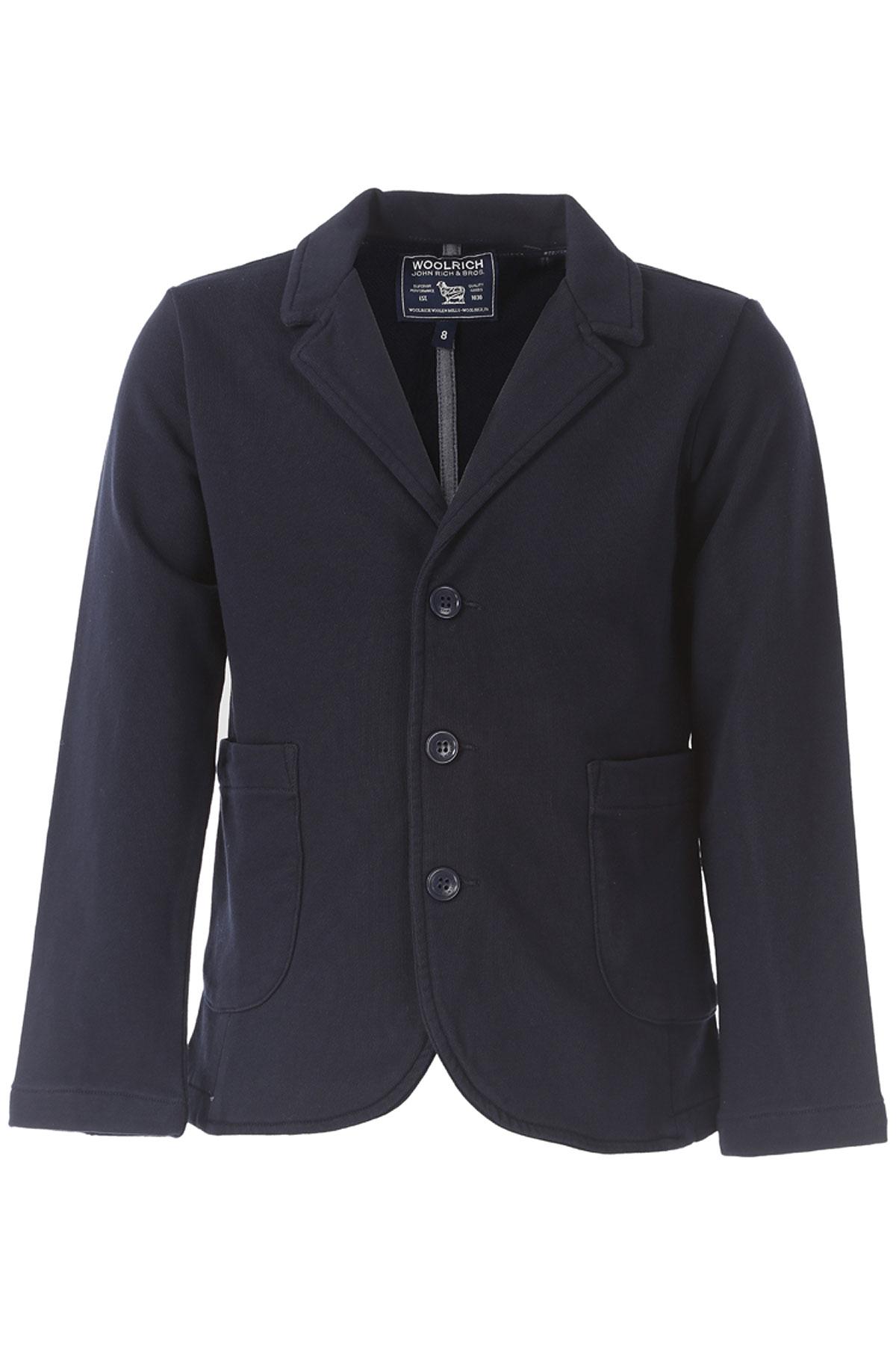 Woolrich Blazer pour Garçon Pas cher en Soldes Outlet, Blue encre, Coton, 2017, 10Y 14Y