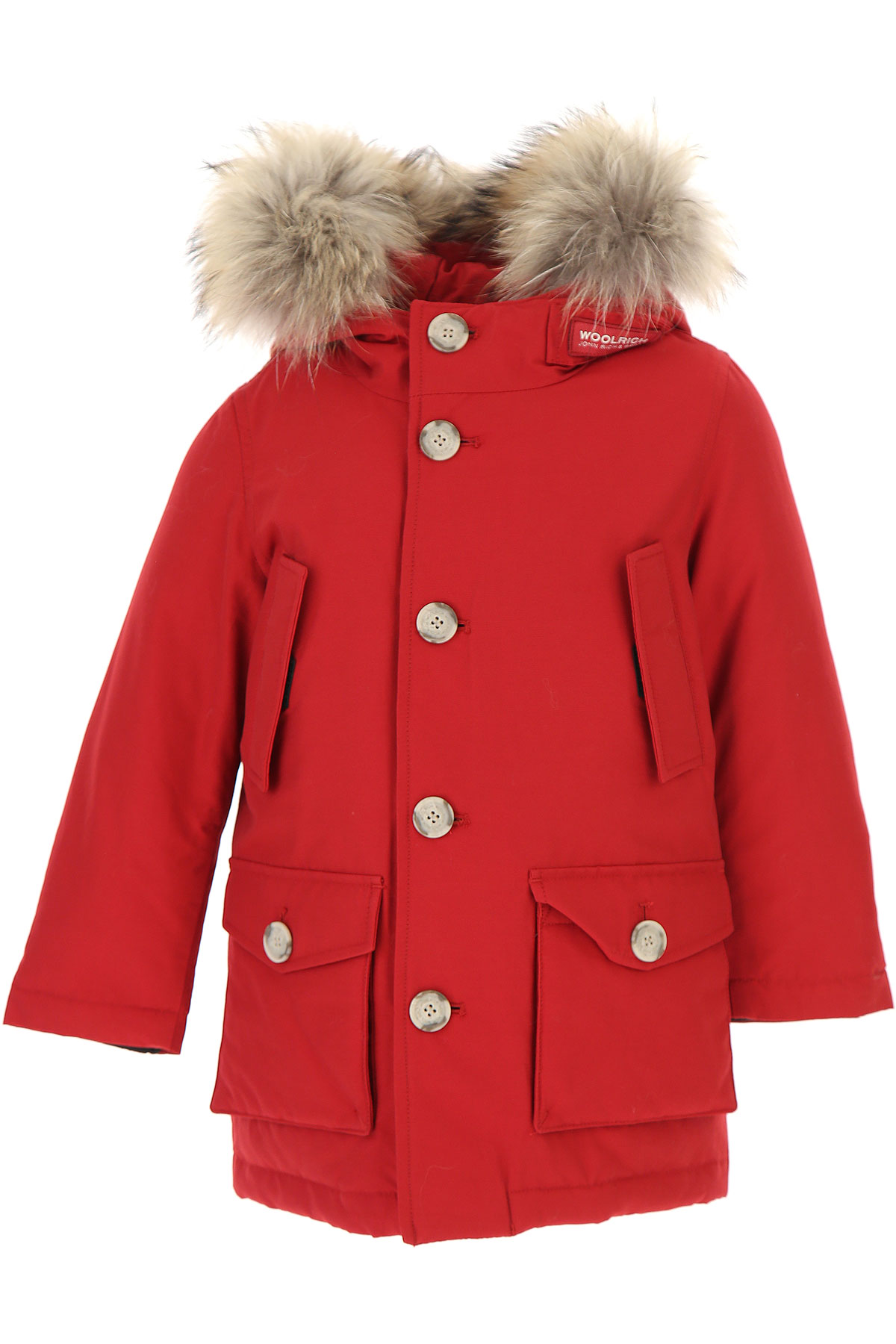Image of Woolrich Boys Down Jacket for Kids, Puffer Ski Jacket, Red, Cotton, 2017, 10Y 14Y 16Y 16Y 2Y 4Y 6Y 8Y