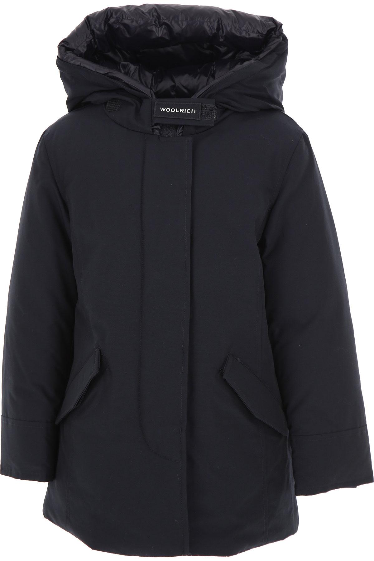 Woolrich Boys Down Jacket for Kids, Puffer Ski Jacket On Sale, Melton Blue, Cotton, 2019, 10Y 12Y 14Y 6Y