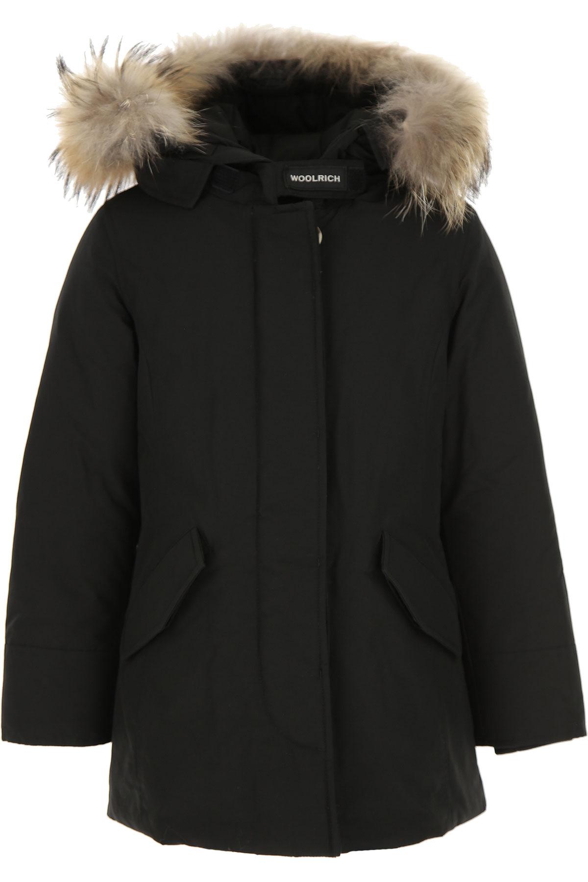 Woolrich {DESIGNER} Kids Coat for Boys On Sale, Black, Cotton, 2019, 12Y 4Y 8Y