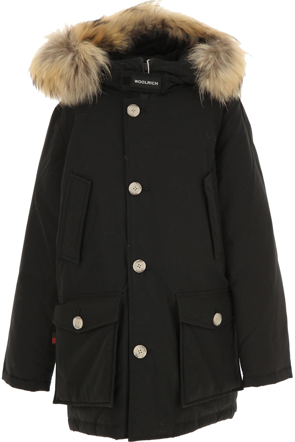 Woolrich Boys Down Jacket for Kids, Puffer Ski Jacket On Sale, Black, Cotton, 2019, 10Y 12Y 14Y 16Y 8Y