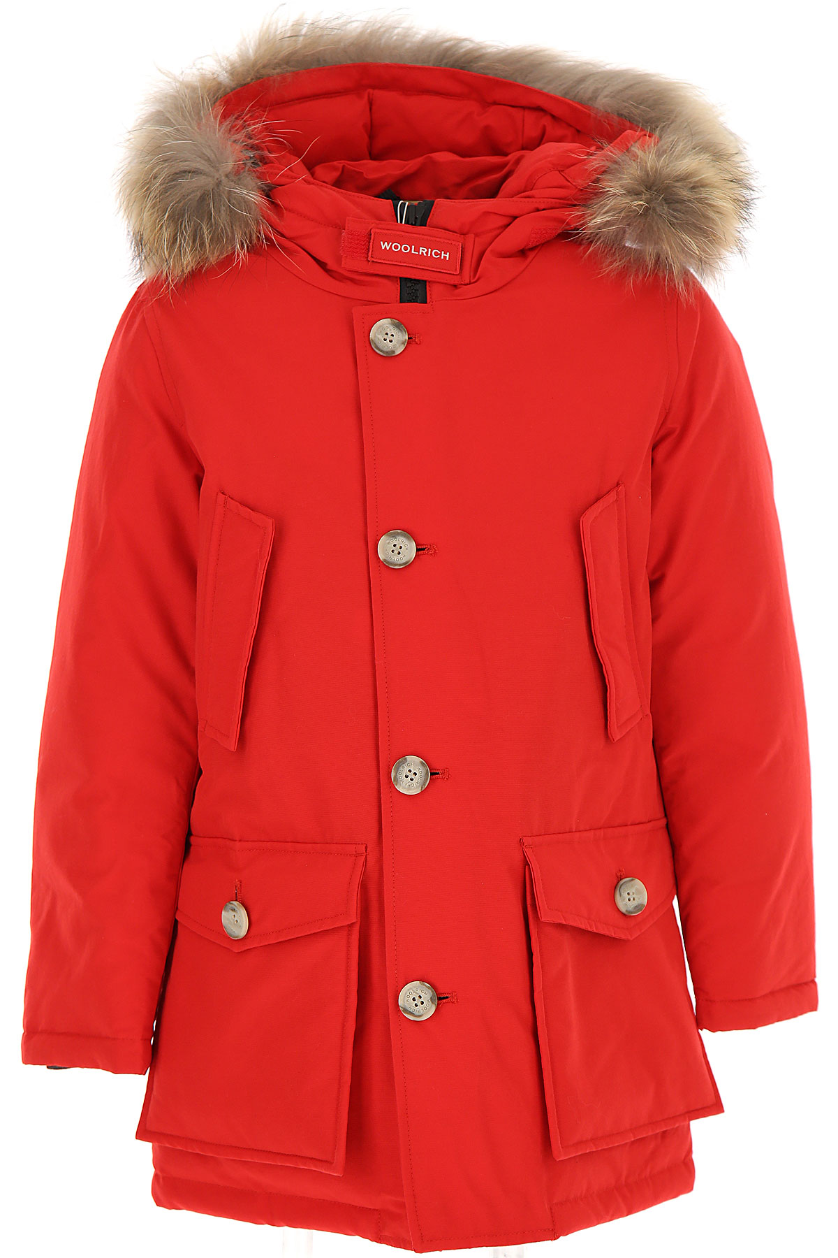 Woolrich Boys Down Jacket for Kids, Puffer Ski Jacket On Sale, Red, Cotton, 2019, 16Y 6Y 8Y
