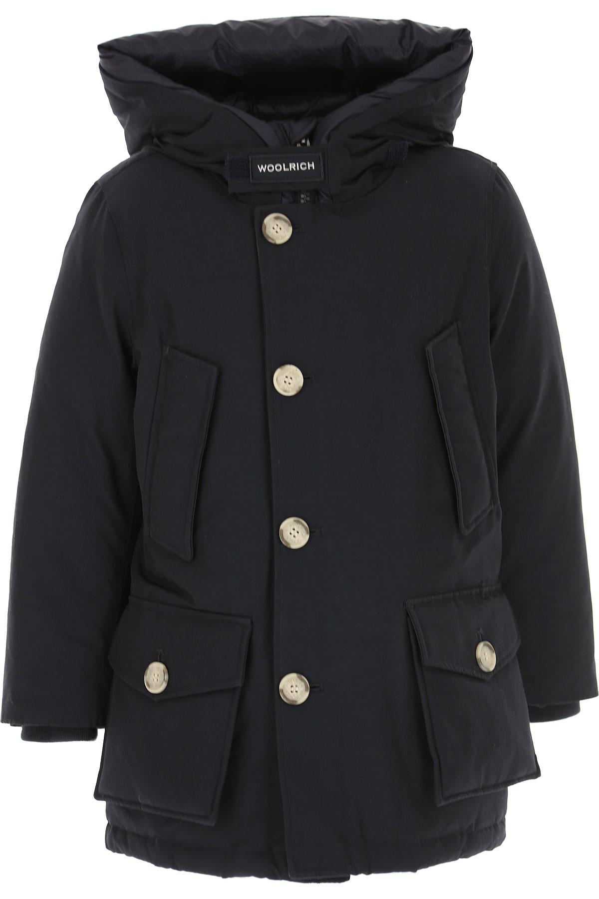 Woolrich Boys Down Jacket for Kids, Puffer Ski Jacket On Sale, Dark Blue Navy, Ctton, 2019, 10Y 12Y