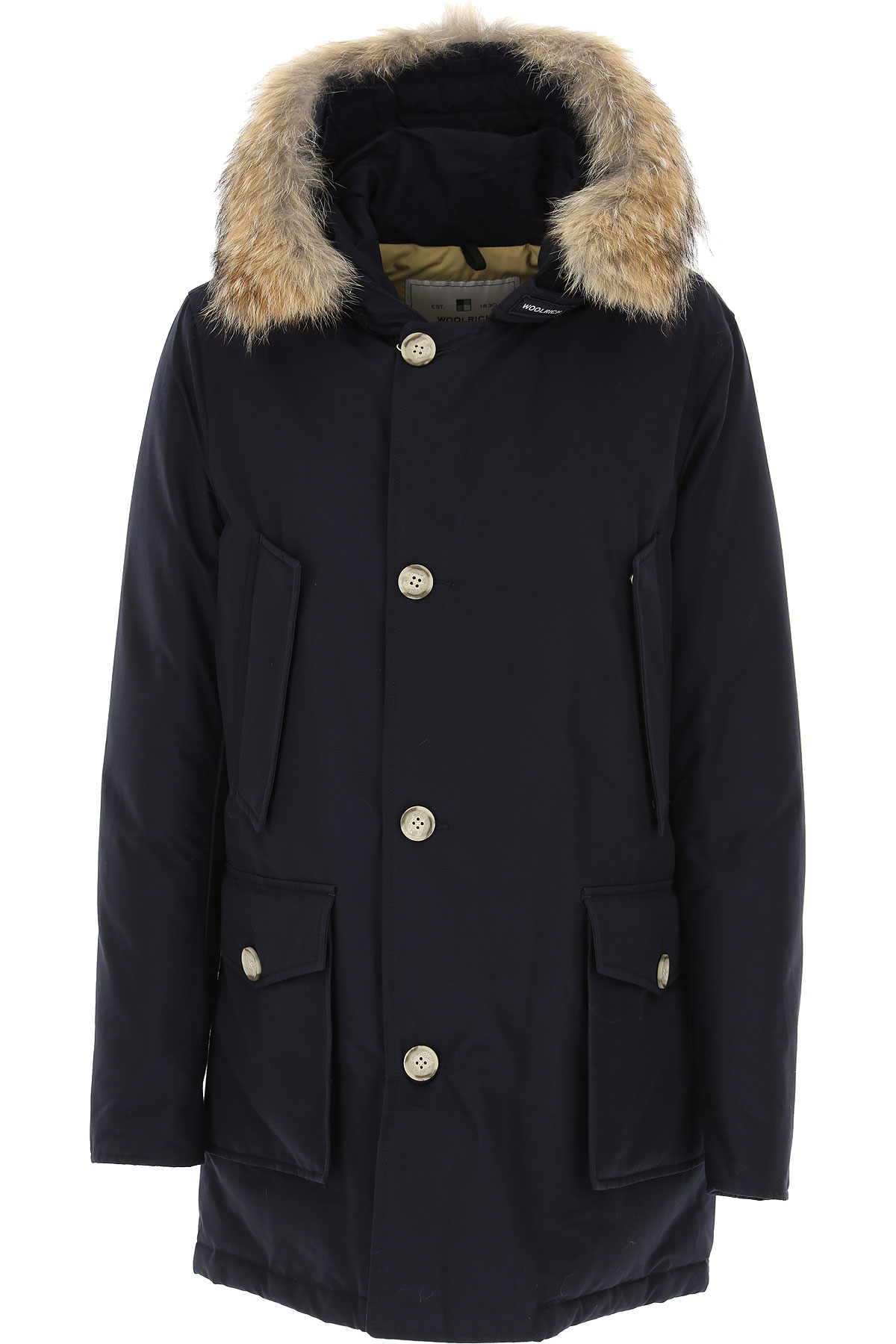 Woolrich Down Jacket for Men, Puffer Ski Jacket, Navy Blue, Duck Down, 2019, L M S XL XS