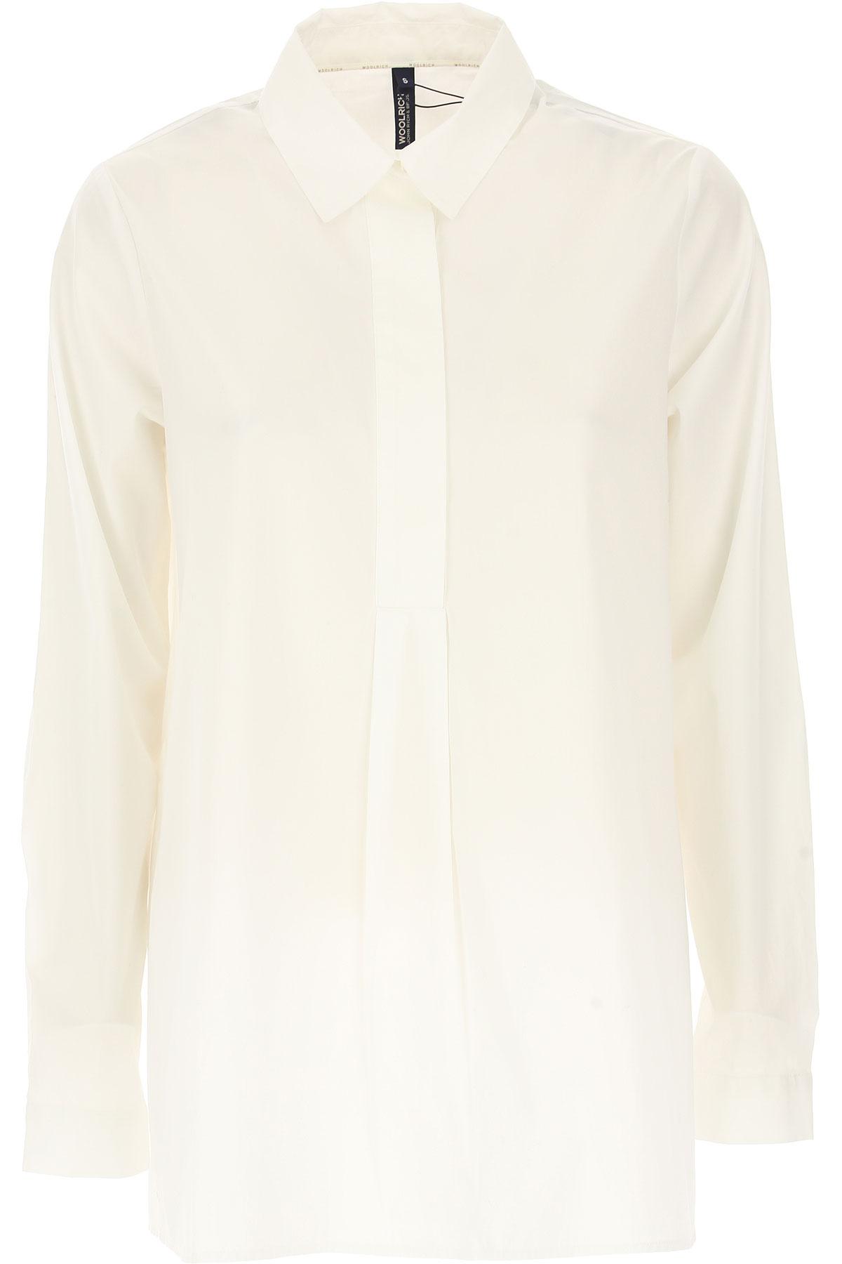 Woolrich Chemise Femme, Blanc, Coton, 2017, 38 40