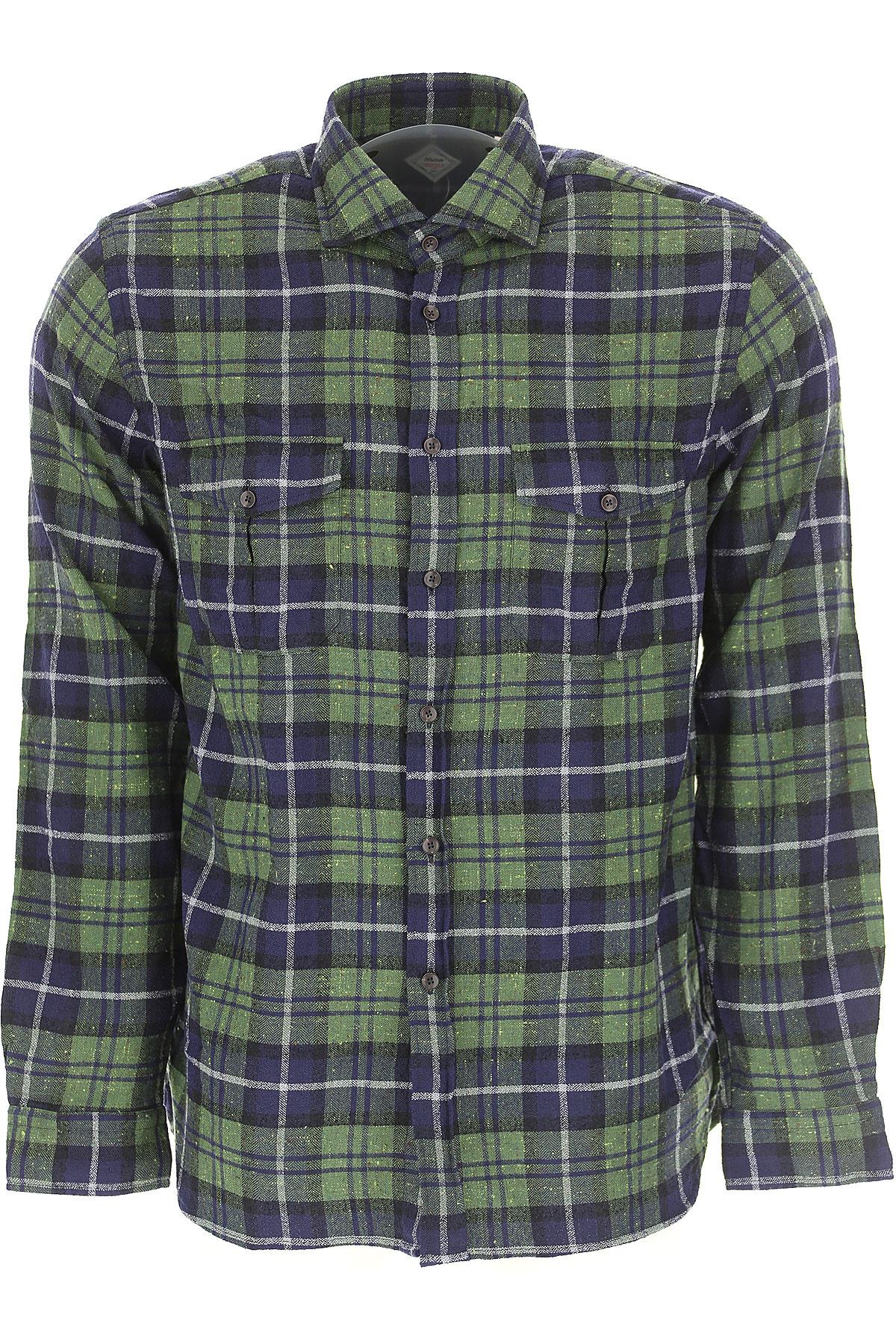 Image of Xacus Shirt for Men, Green, Cotton, 2017, L M S XL XXL