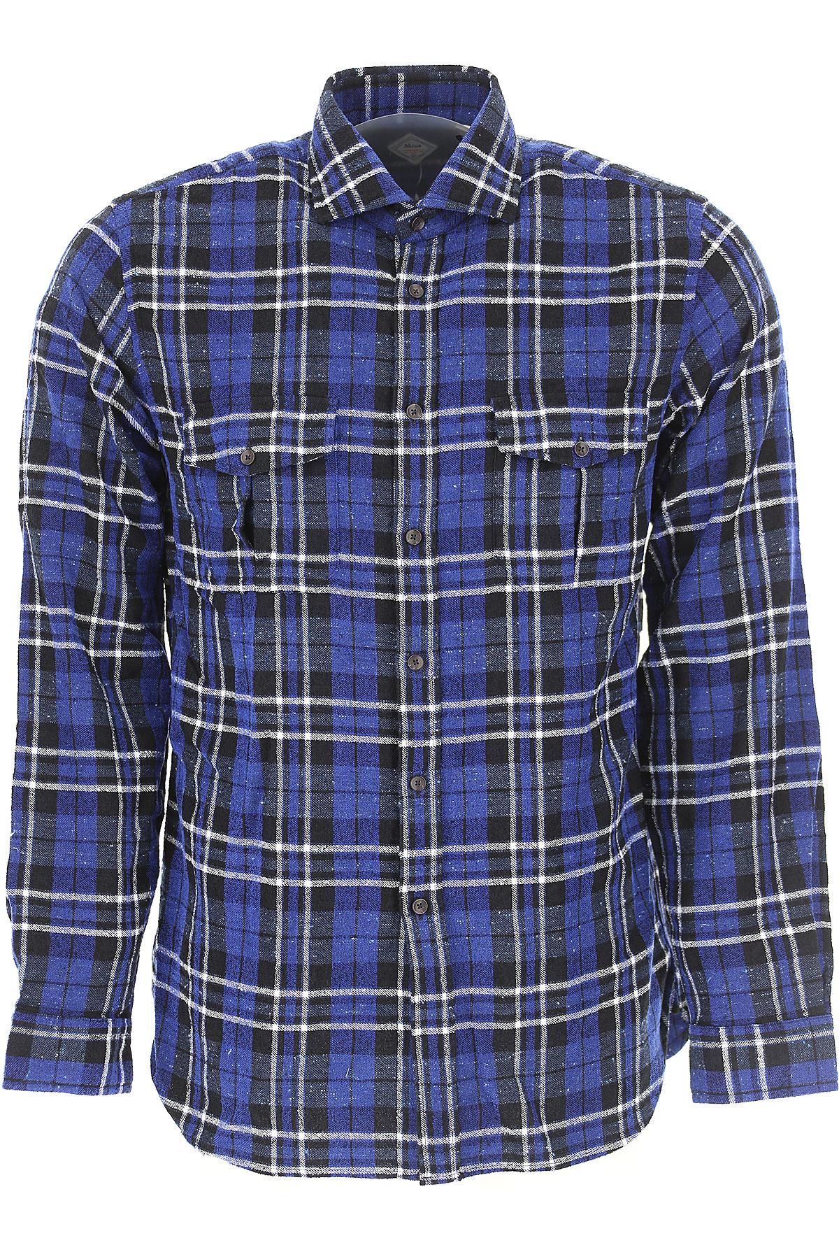 Image of Xacus Shirt for Men, Blue, Cotton, 2017, L M S XL XXL