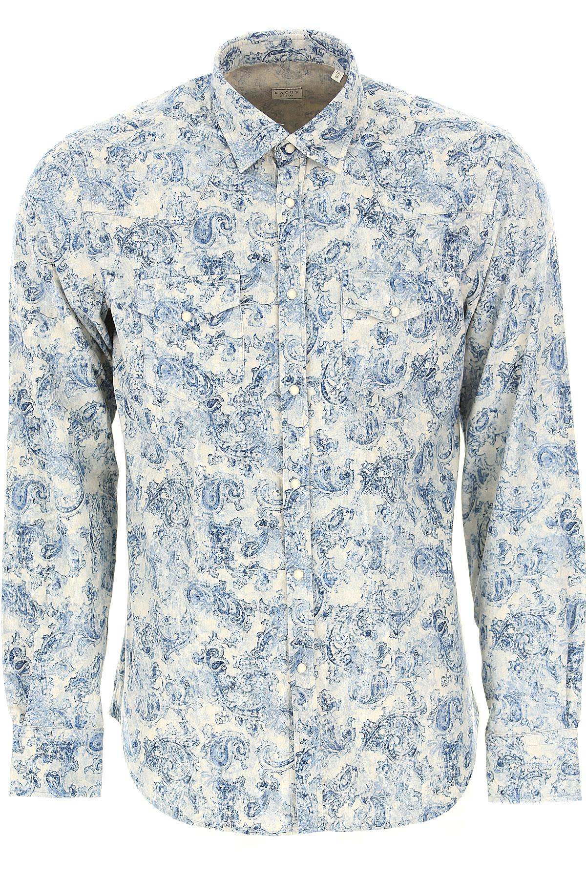 Xacus Shirt for Men On Sale, Denim Blue, Cotton, 2019, 15.5 15.75 16 16.5 17
