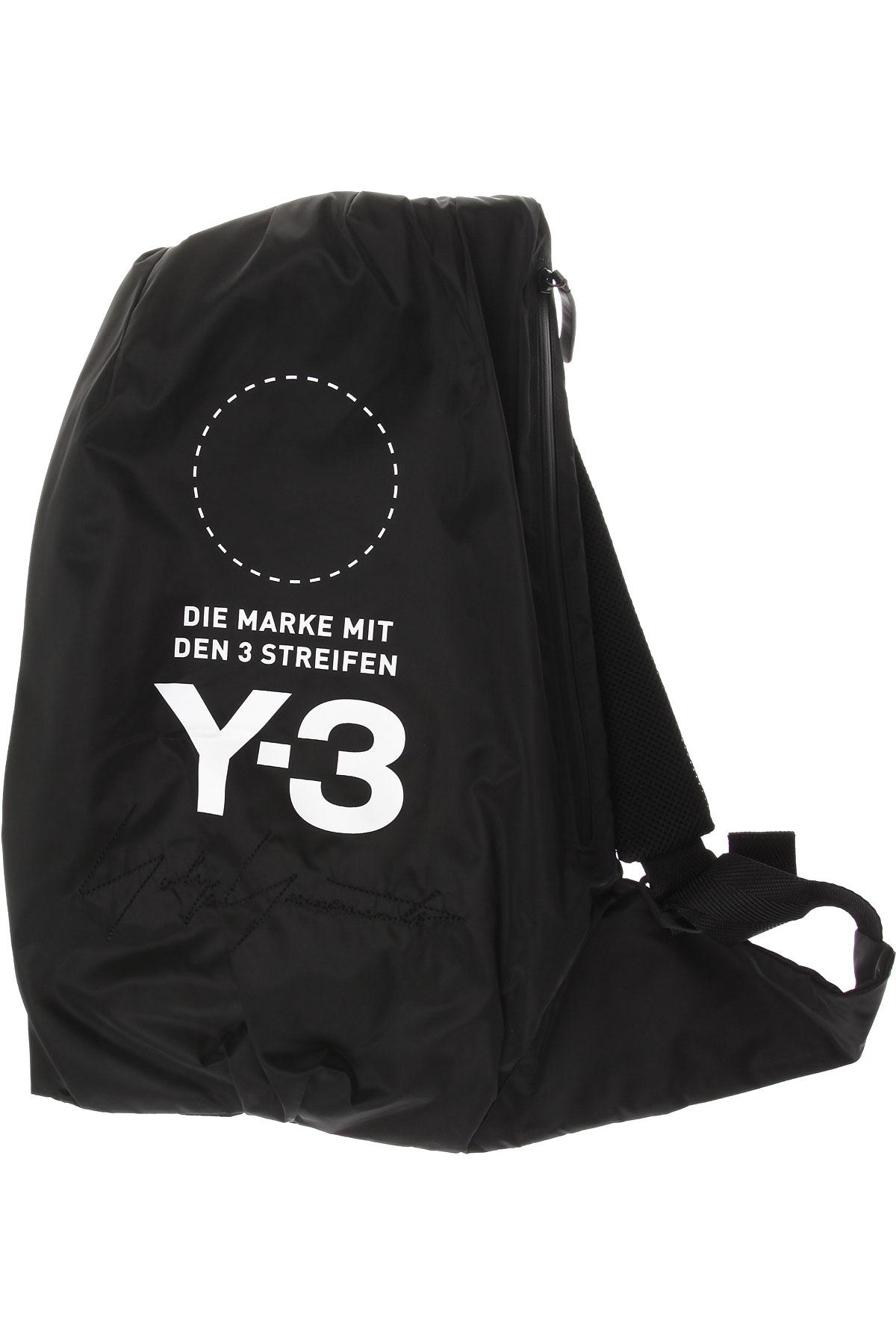 Y3 by Yohji Yamamoto Sac à Dos Homme Pas cher en Soldes, Noir, Polyester, 2017