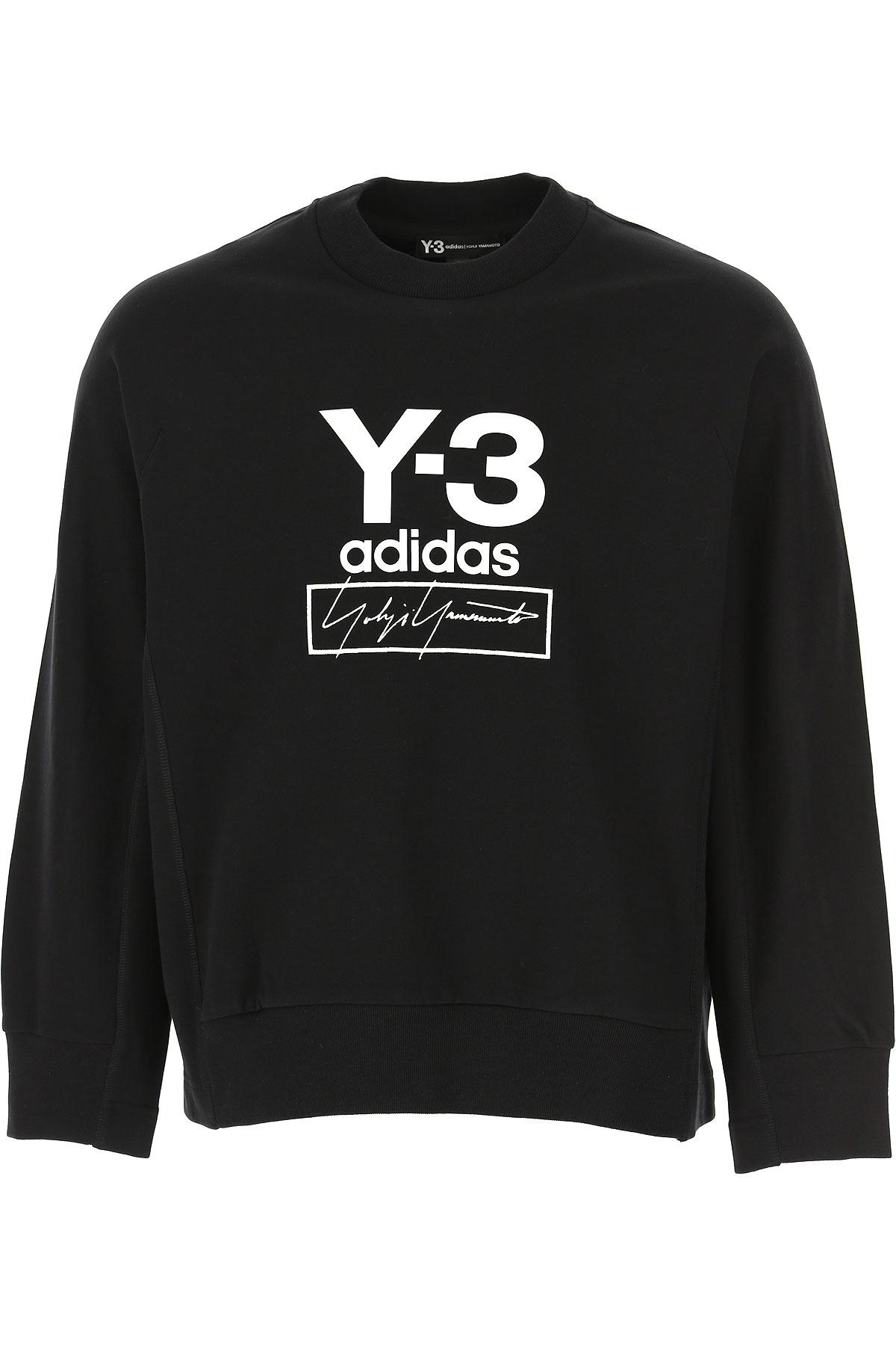Y3 by Yohji Yamamoto Sweatshirt for Men On Sale, Black, Cotton, 2019, L XL