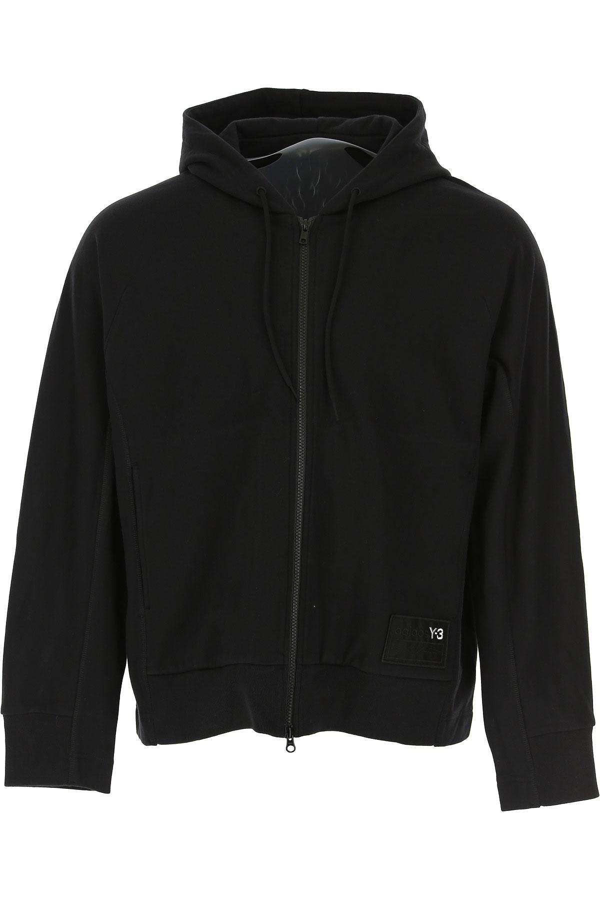 Y3 by Yohji Yamamoto Sweatshirt for Men On Sale, Black, Cotton, 2019, L S