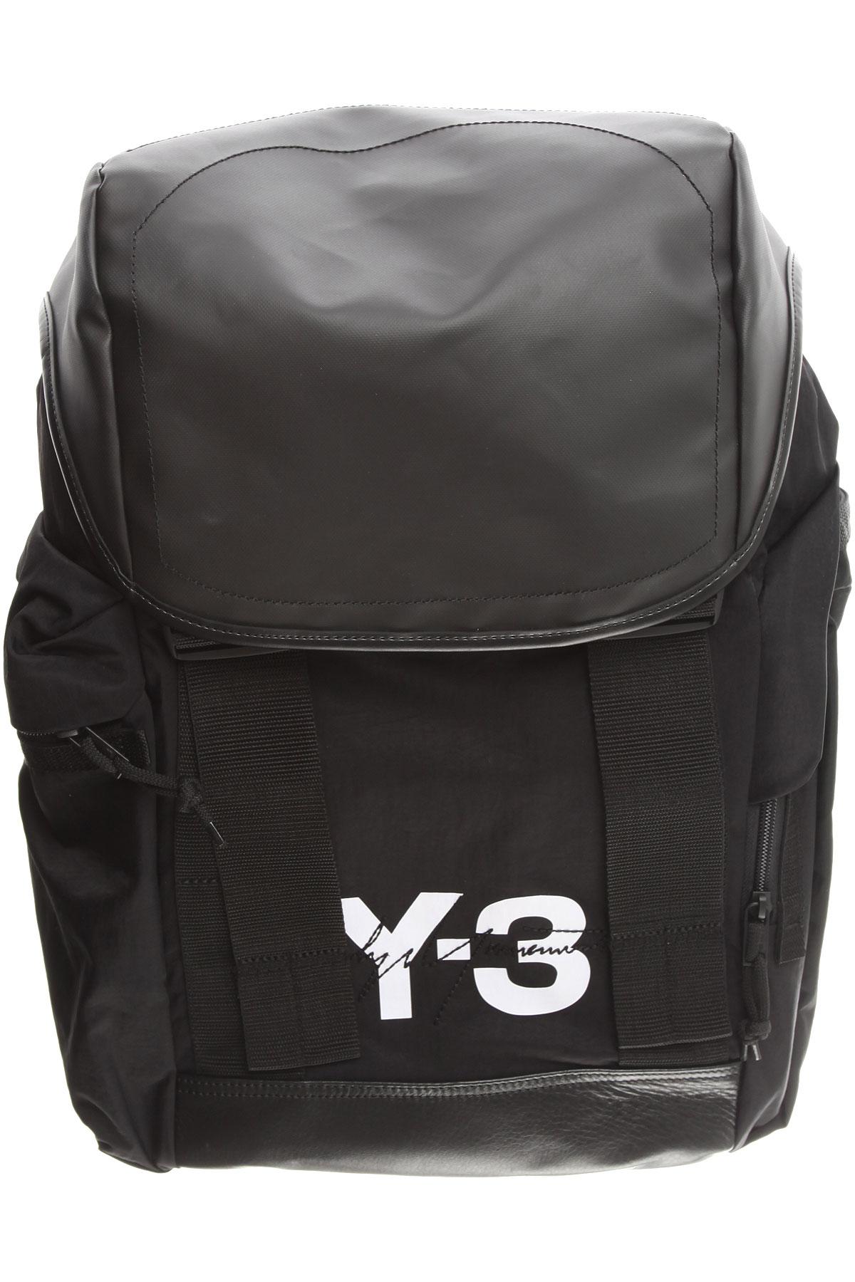 Image of Y3 by Yohji Yamamoto Backpack for Men, Black, Nylon, 2017