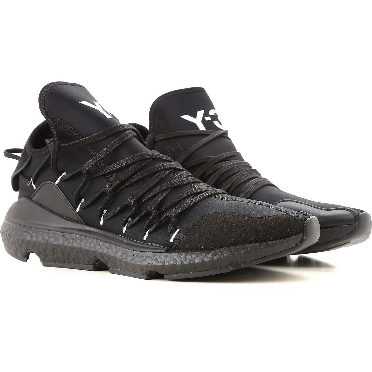 Image of Y3 by Yohji Yamamoto Sneakers for Men, Kusari, Black, Neoprene, 2017, 10 10.5 11 11.5 12 7 7.5 8 8.5 9.5
