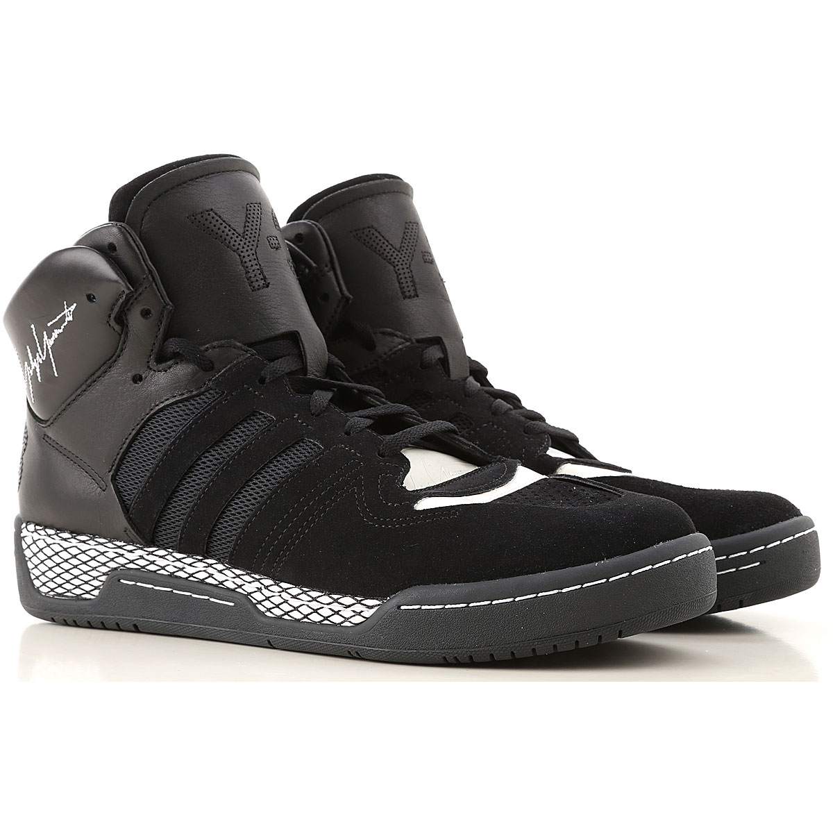 Y3 by Yohji Yamamoto Sneakers for Men On Sale in Outlet, Black, Leather, 2019, 7.5