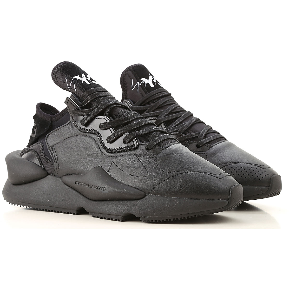 Y3 by Yohji Yamamoto Sneakers for Men On Sale, Black, Leather, 2019, 11.5 6