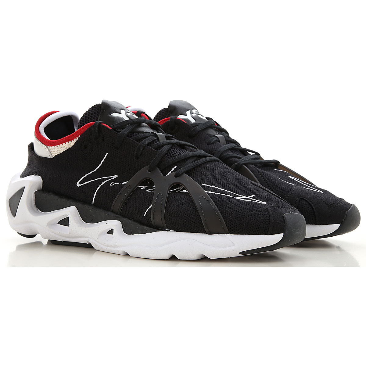 Y3 by Yohji Yamamoto Sneakers for Men On Sale, Black, Textile, 2019, 11 11.5 9 9.5