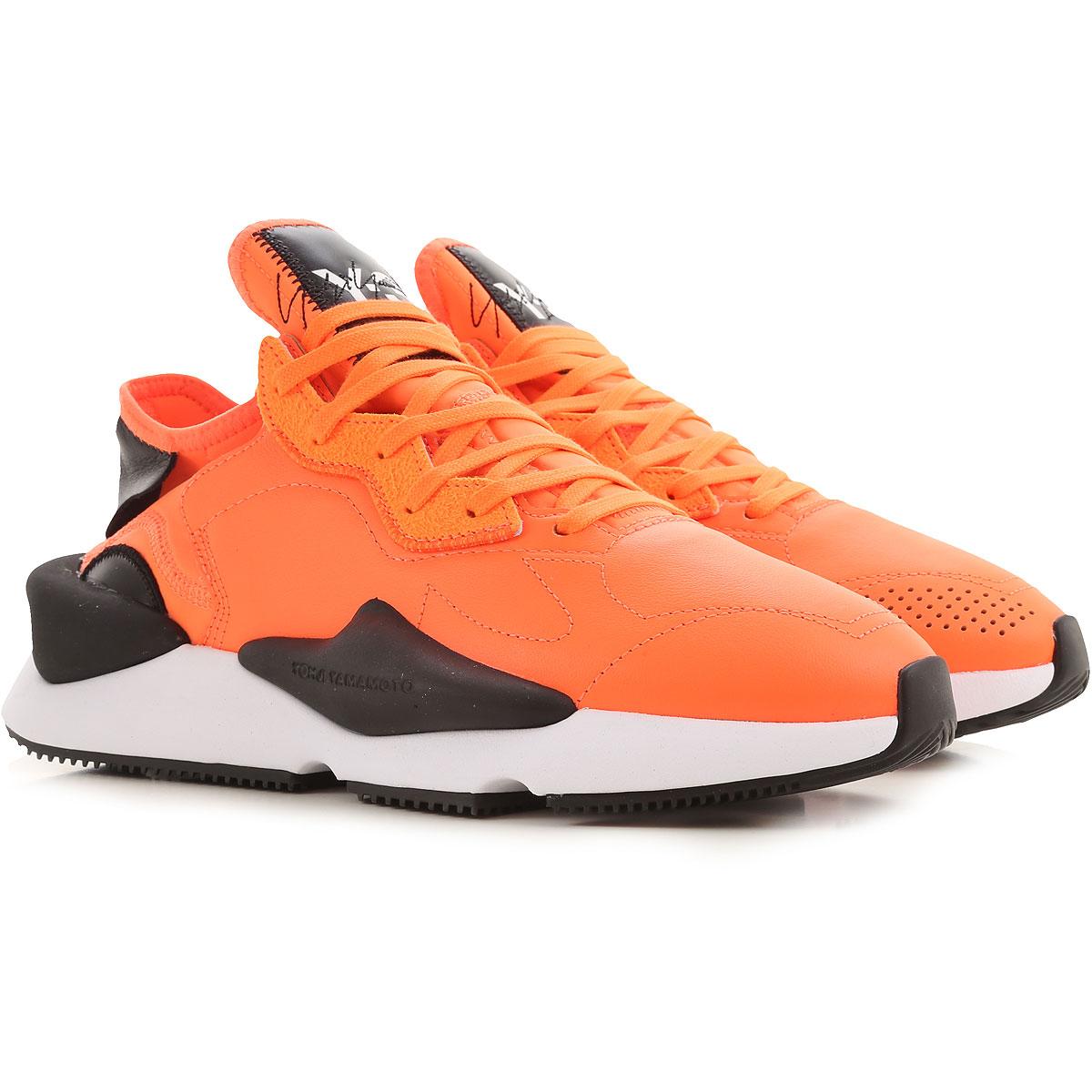 Y3 by Yohji Yamamoto Sneakers for Men On Sale, Fluo Orange, Leather, 2019, 10 8.5