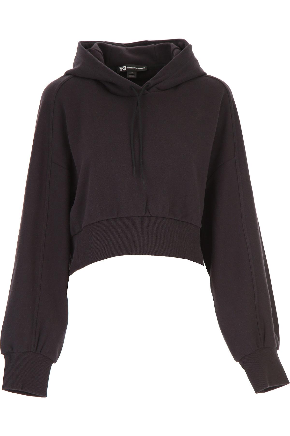 Y3 by Yohji Yamamoto Sweatshirt for Women On Sale, Black, Cotton, 2019, 4 6