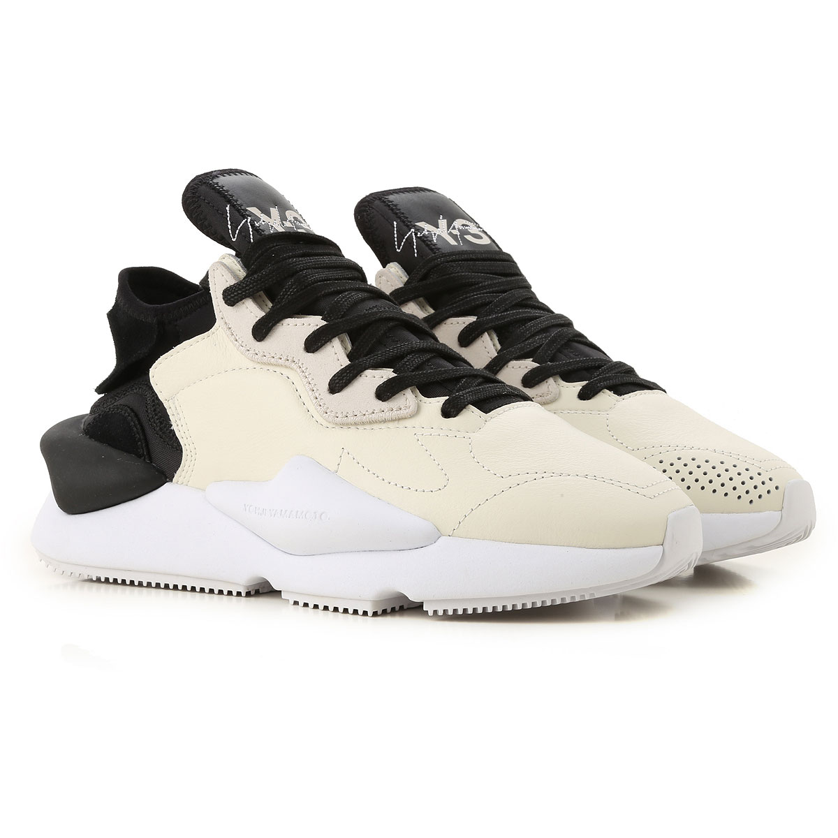 Y3 by Yohji Yamamoto Sneakers for Women On Sale, Black, Leather, 2019, 5 5.5 5.5 6 6.5 7 8.5