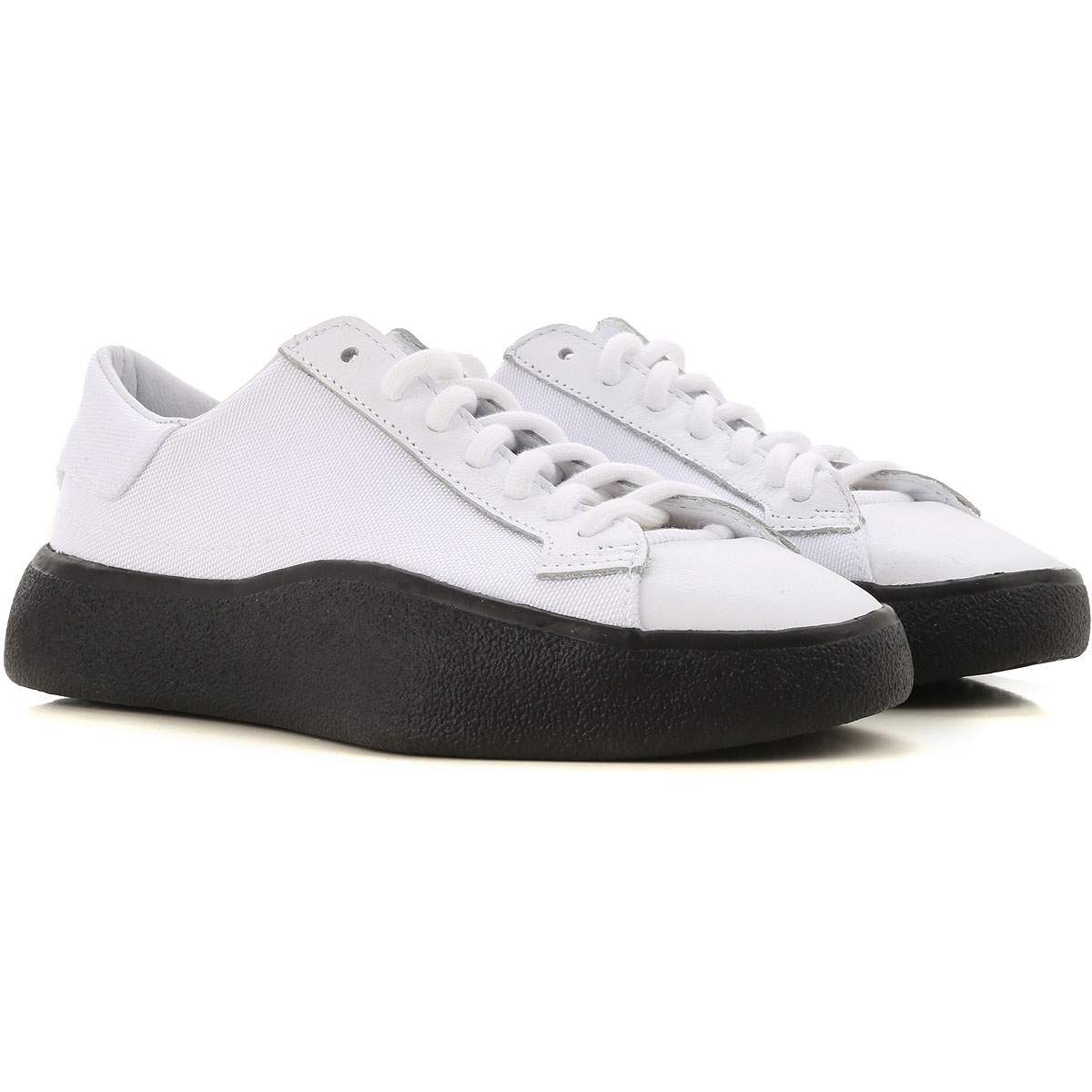 Y3 by Yohji Yamamoto Sneakers for Women On Sale in Outlet, White, Synthetic Textile, 2019, 4.5 5