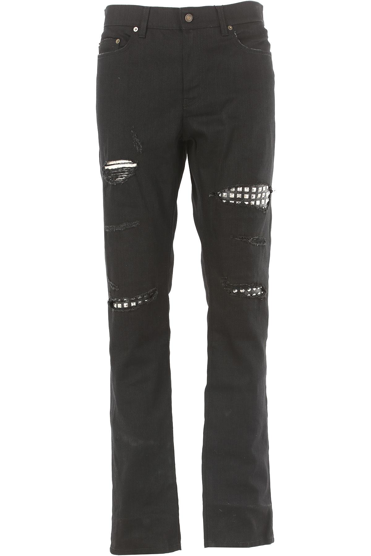 Yves Saint Laurent Jeans On Sale in Outlet, Black, Cotton, 2017, 30 32 33 34
