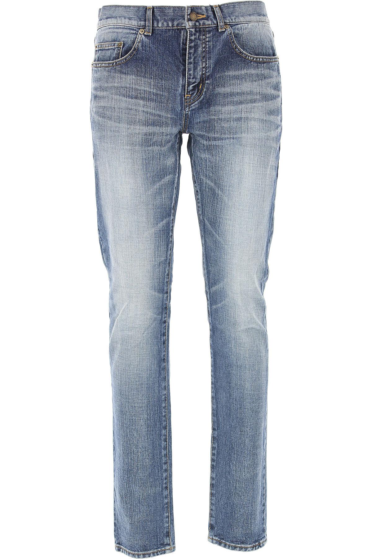 Yves Saint Laurent Jeans On Sale, Blue Denim, Cotton, 2017, 30 31 32 USA-466228